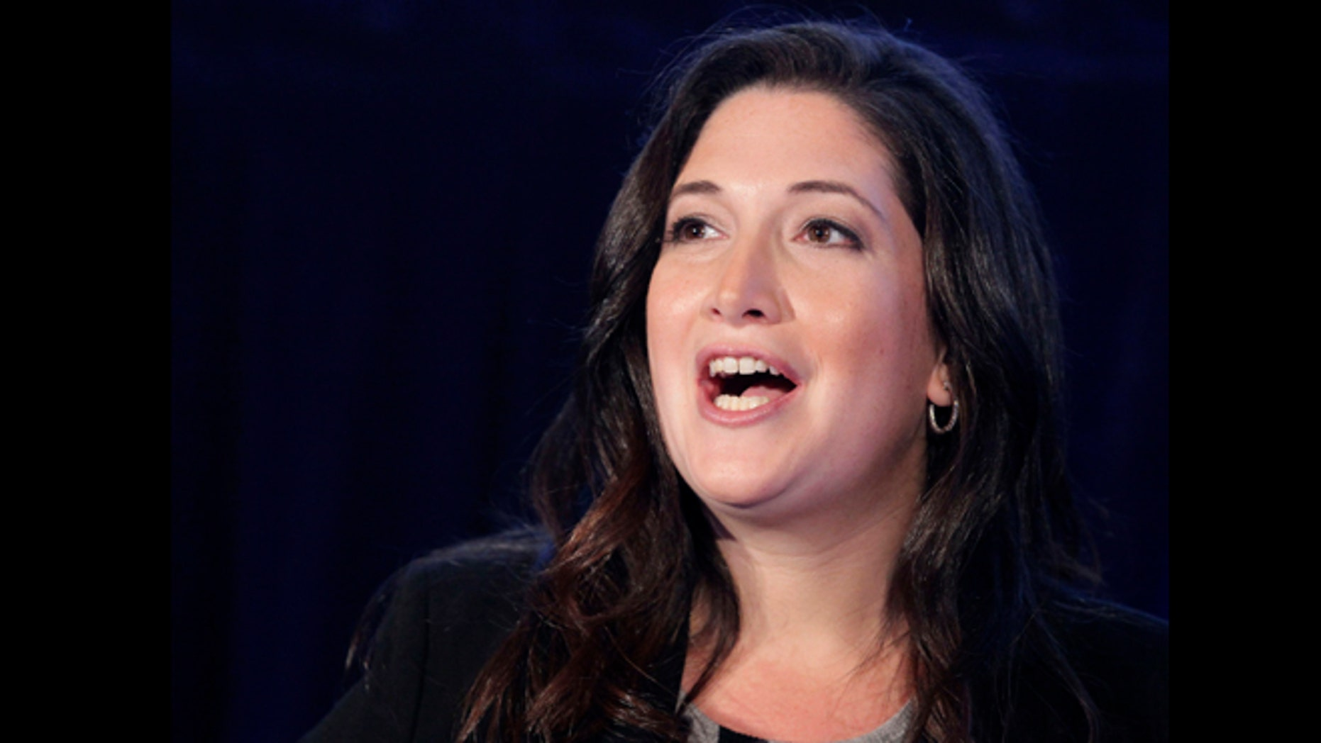 Oct. 4, 2011: Randi Zuckerberg, former marketing director of Facebook and founder of RtoZ Media, speaks at the Executive Marketing Summit in New York.
