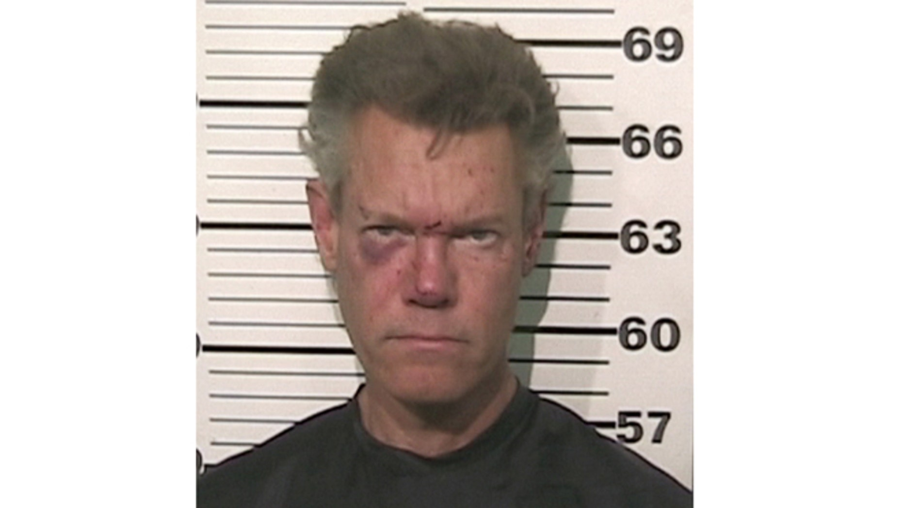 This file photo provided by the Grayson County, Texas, Sheriffs Office shows Country singer Randy Travis.