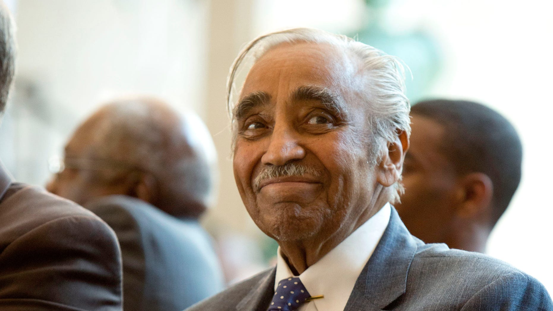 FILE: June 27, 2012: Rep. Charles Rangel, D-N.Y., at a ceremony at which the Congressional Gold Medal were awarded to the Montford Point Marines, on Capitol Hill in Washington, D.C.
