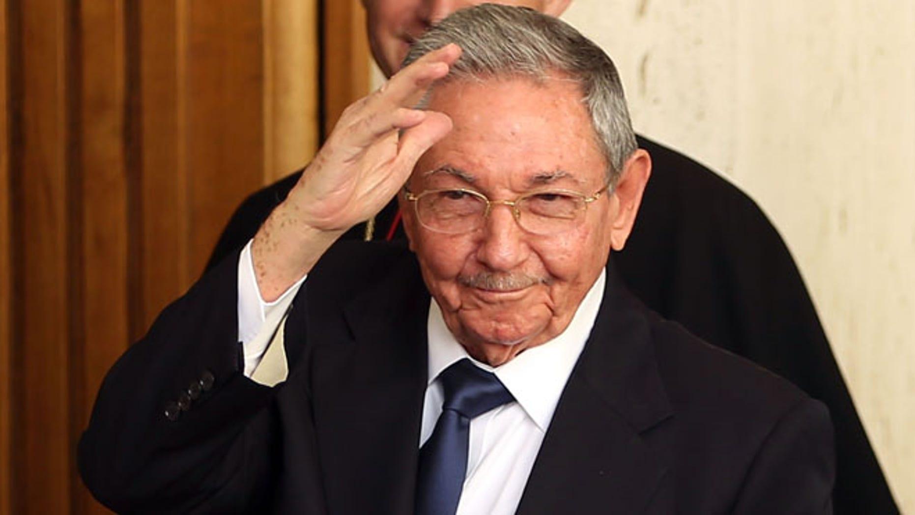 President of Cuba Raúl Castro on May 10, 2015 in Vatican City, Vatican.