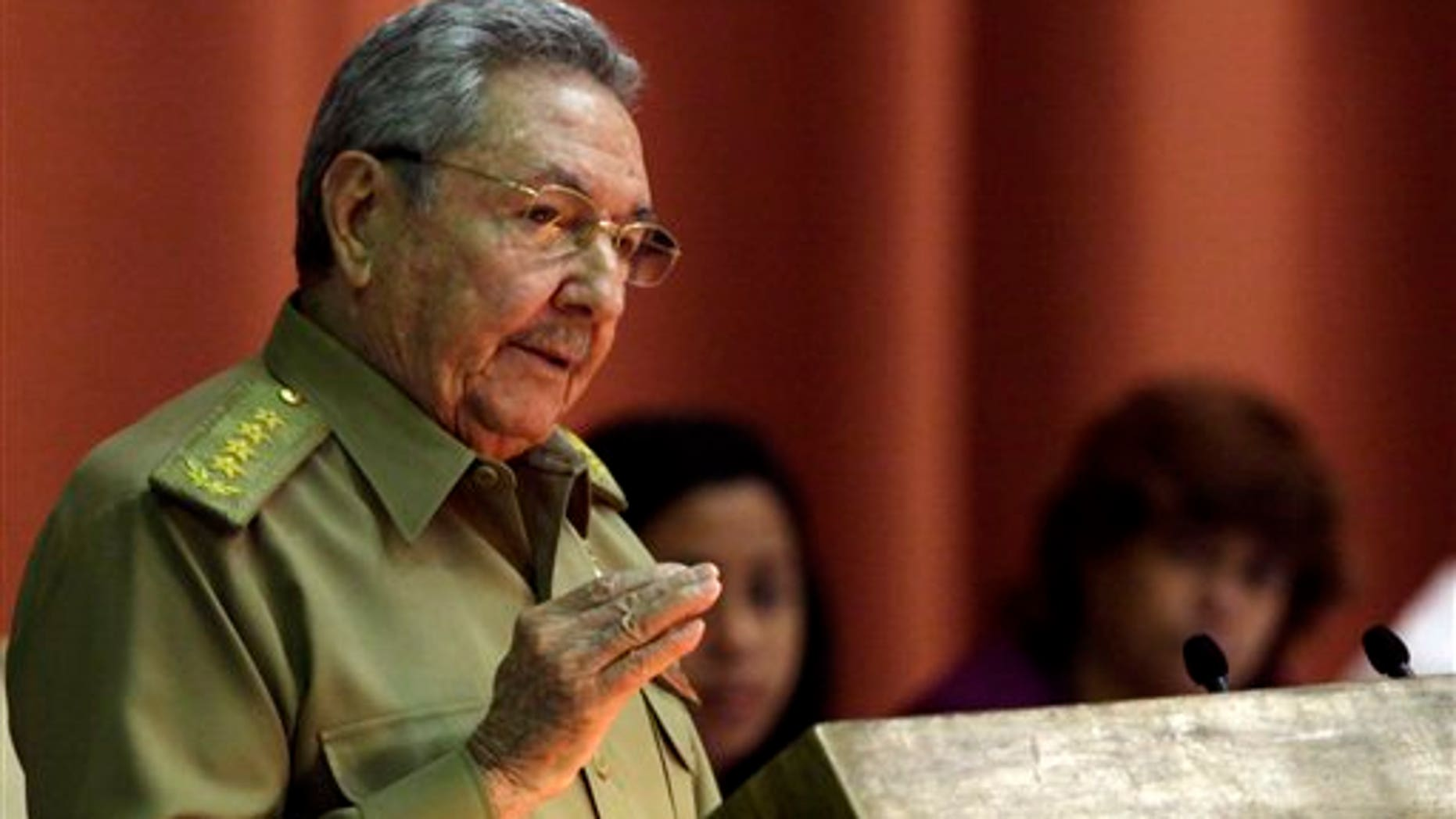 Cuba's President Raul Castro at the National Assembly in Havana, Cuba, Saturday, Dec. 21, 2013