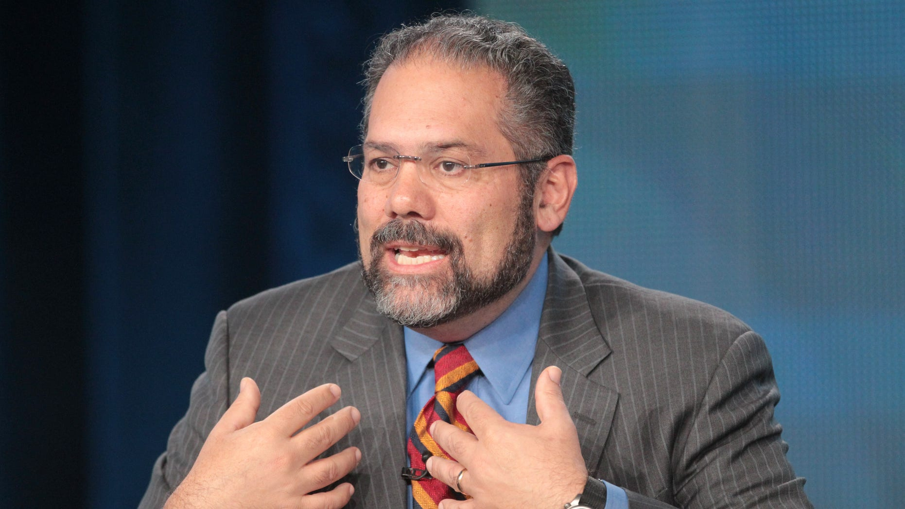 Ray Suarez during the PBS Election Coverage panel on January 4, 2012 in Pasadena, California.