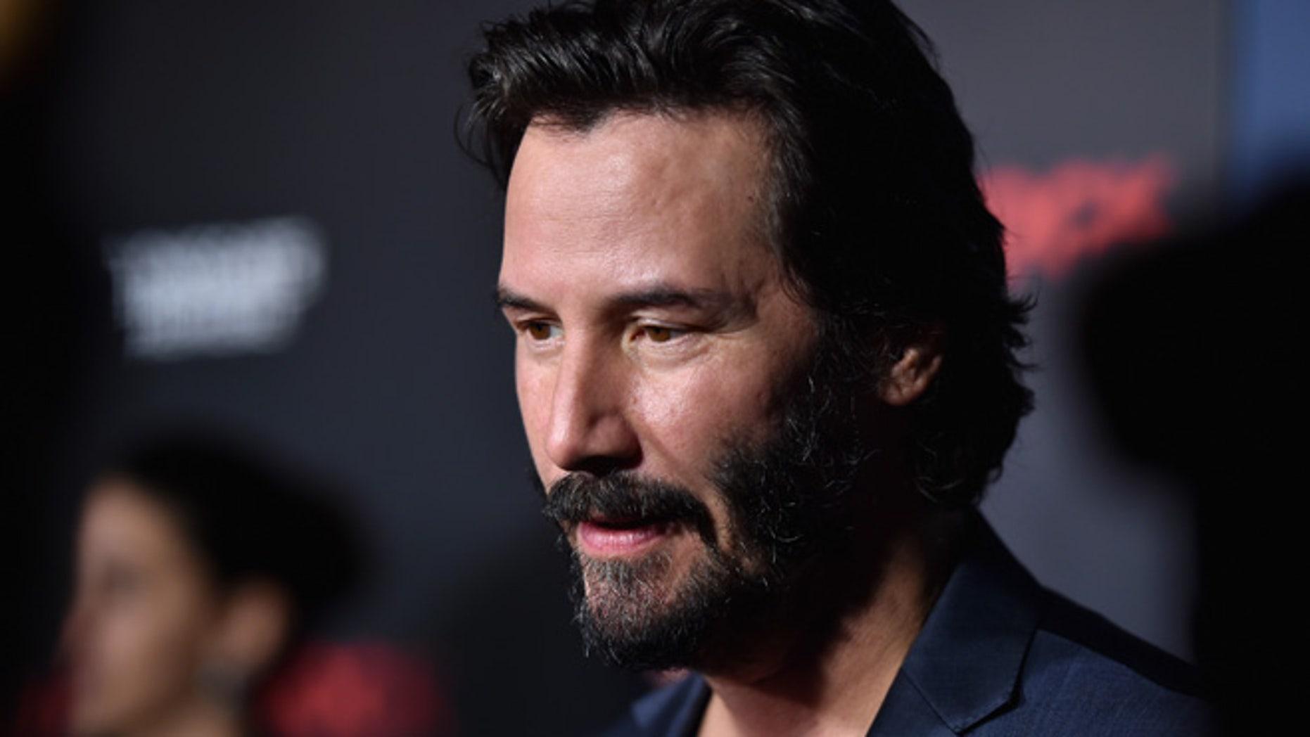 Keanu Reeves on October 7, 2015 in Hollywood, California.