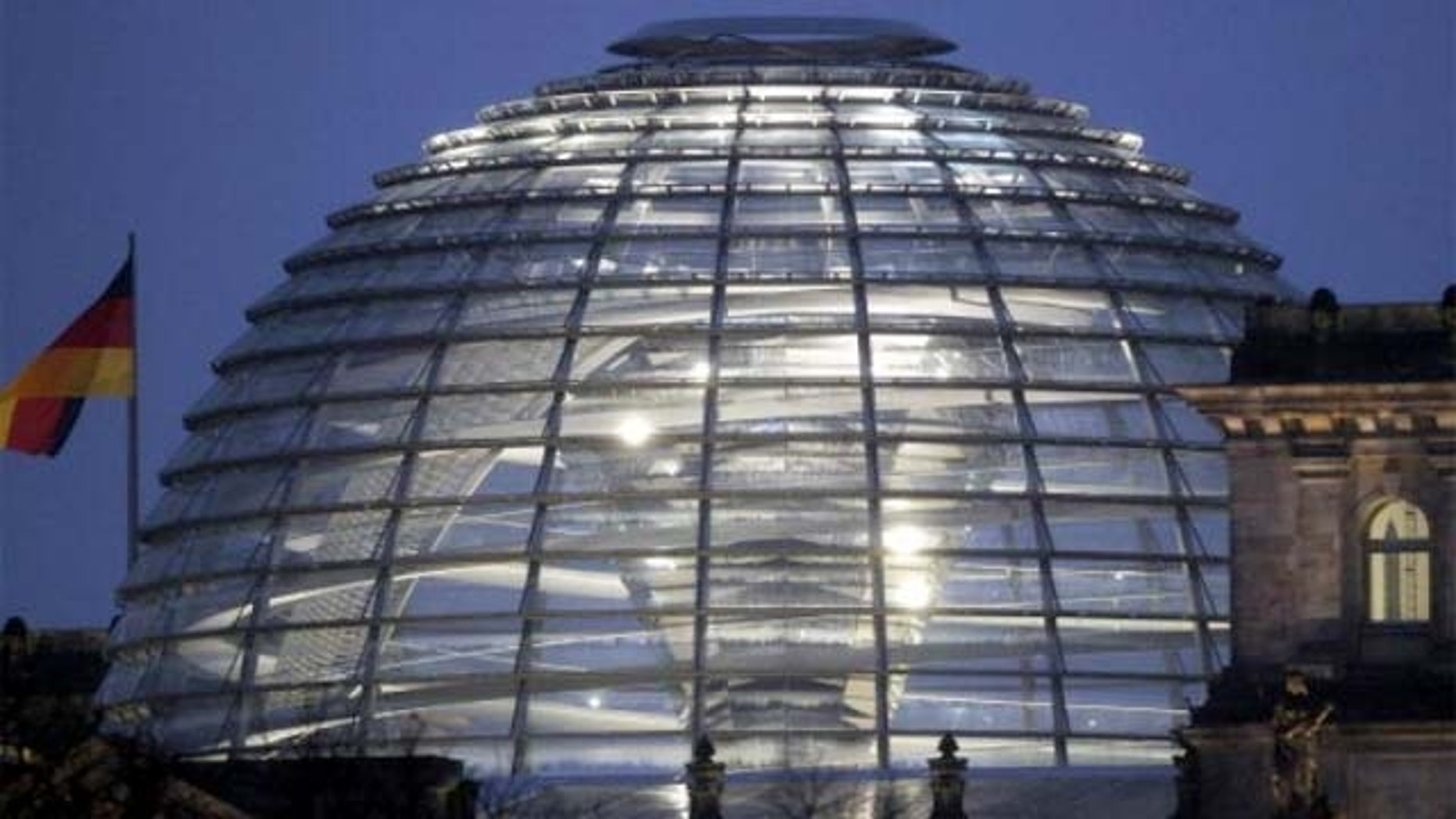 The dome of the Reichstag in Berlin, Germany.