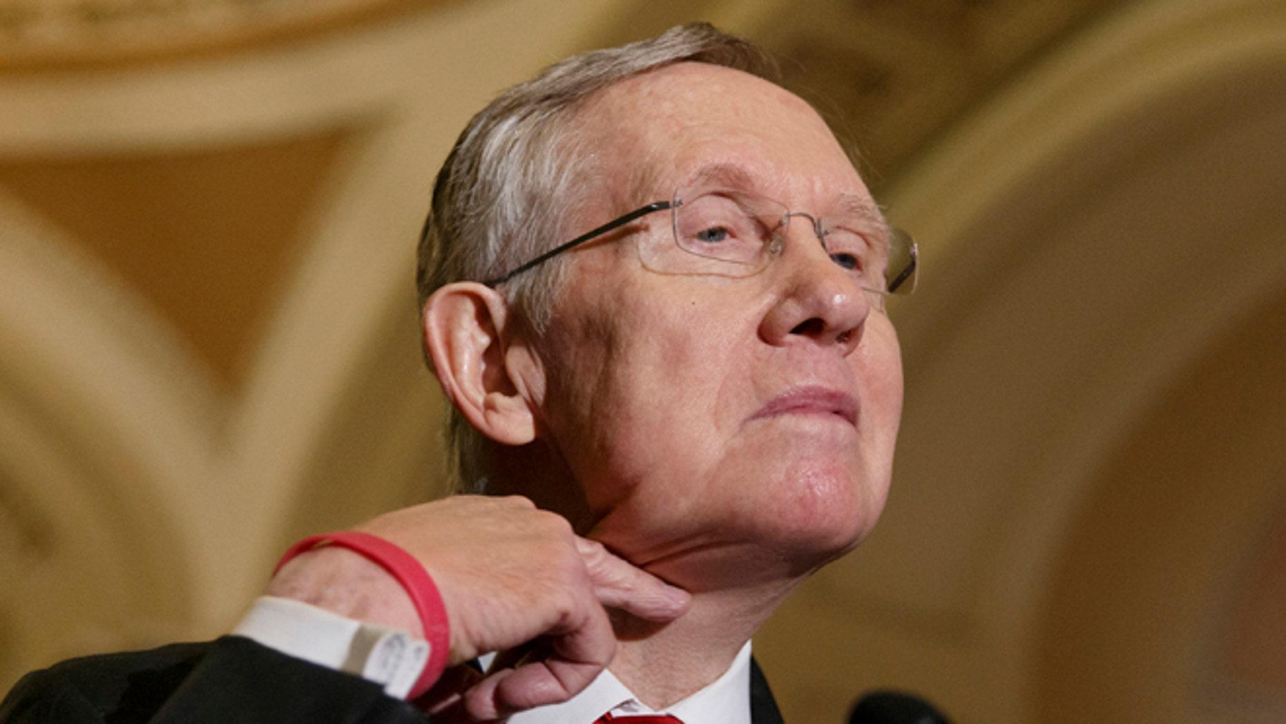FILE: March 11, 2014: Senate Majority Leader Harry Reid, D-Nevada, on Capitol Hill in Washington, D.C.