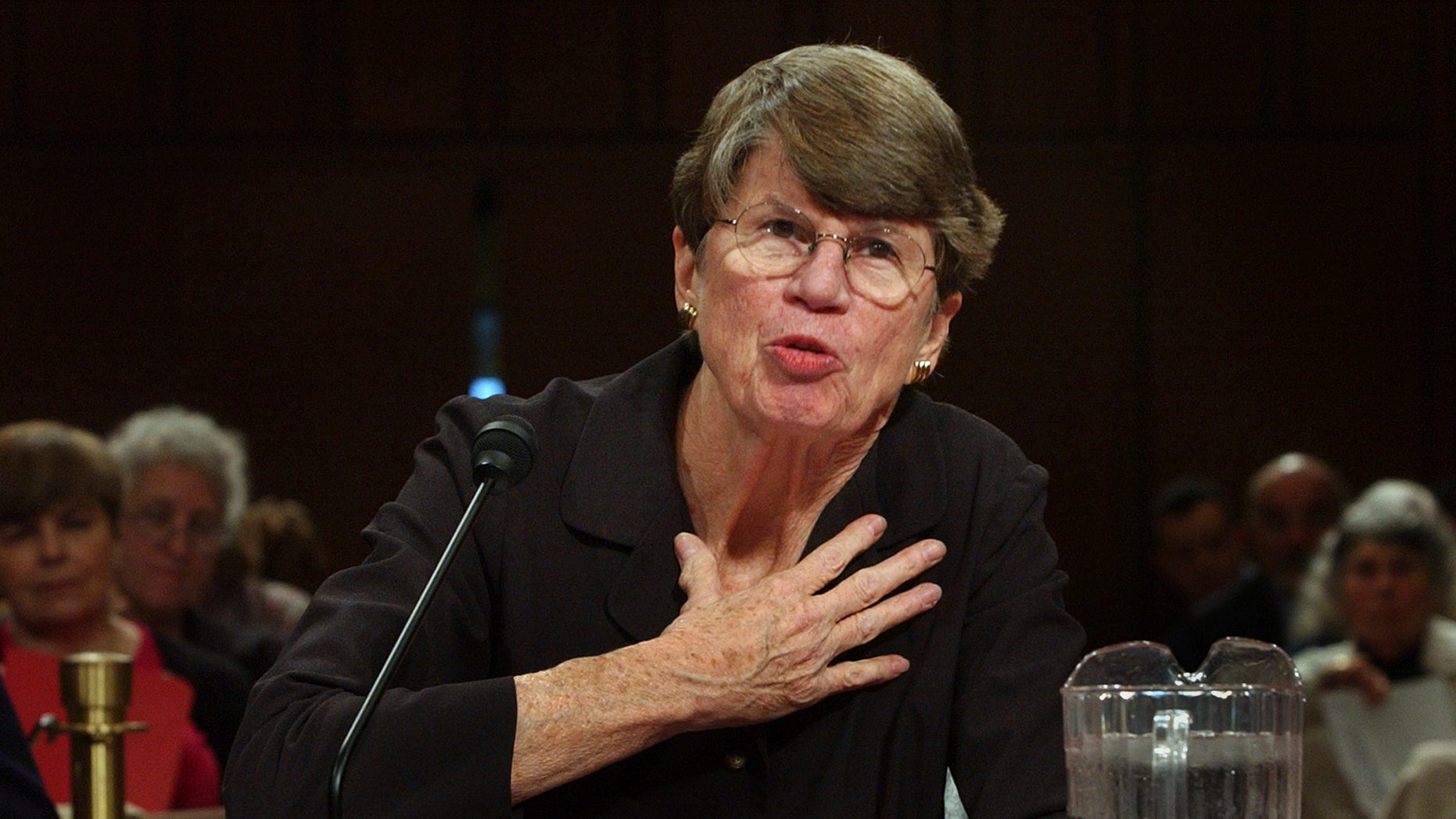 Former U.S. Attorney General Janet Reno in an April 13, 2004, file photo.