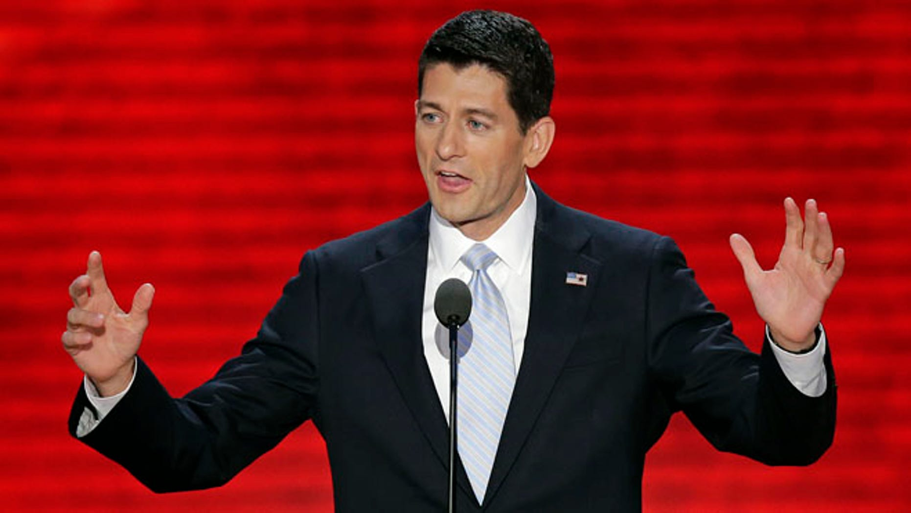 FILE: Aug. 29, 2012: Republican vice presidential nominee Rep. Paul Ryan addresses the Republican National Convention in Tampa, Fla.