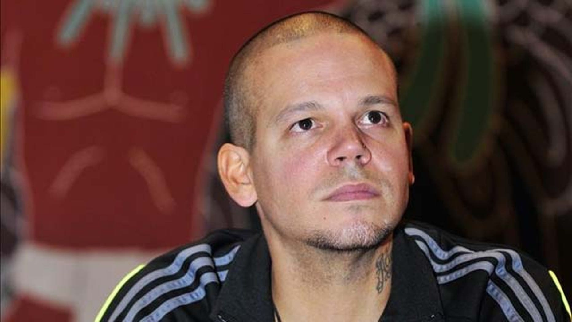Sept. 28, 2011: Rene Perez, a.k.a. Residente, takes part in the Dialogue for Latin America at the National Autonomous University of Mexico.