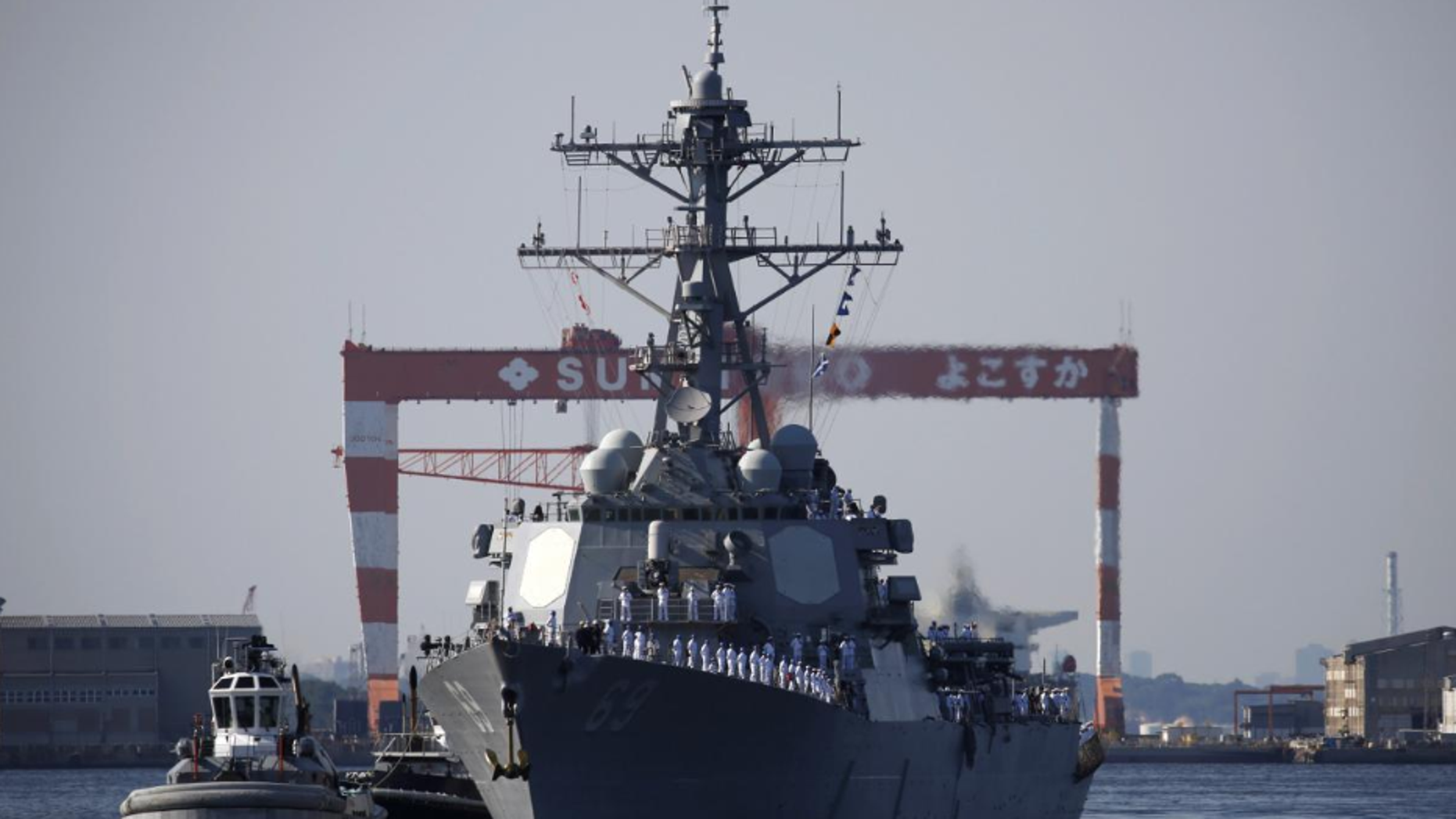 The U.S. guided-missile destroyer USS Milius (DDG69) arrives to join Forward Deployed Naval Forces at the U.S. naval base in Yokosuka, Japan May 22, 2018.