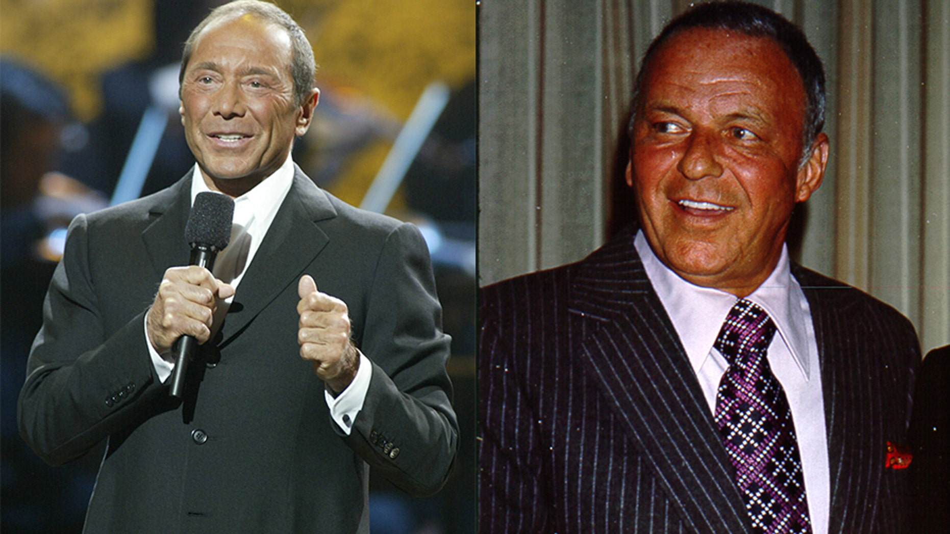"""Paul Anka (left) wrote the hit song """"My Way"""" for his friend Frank Sinatra"""