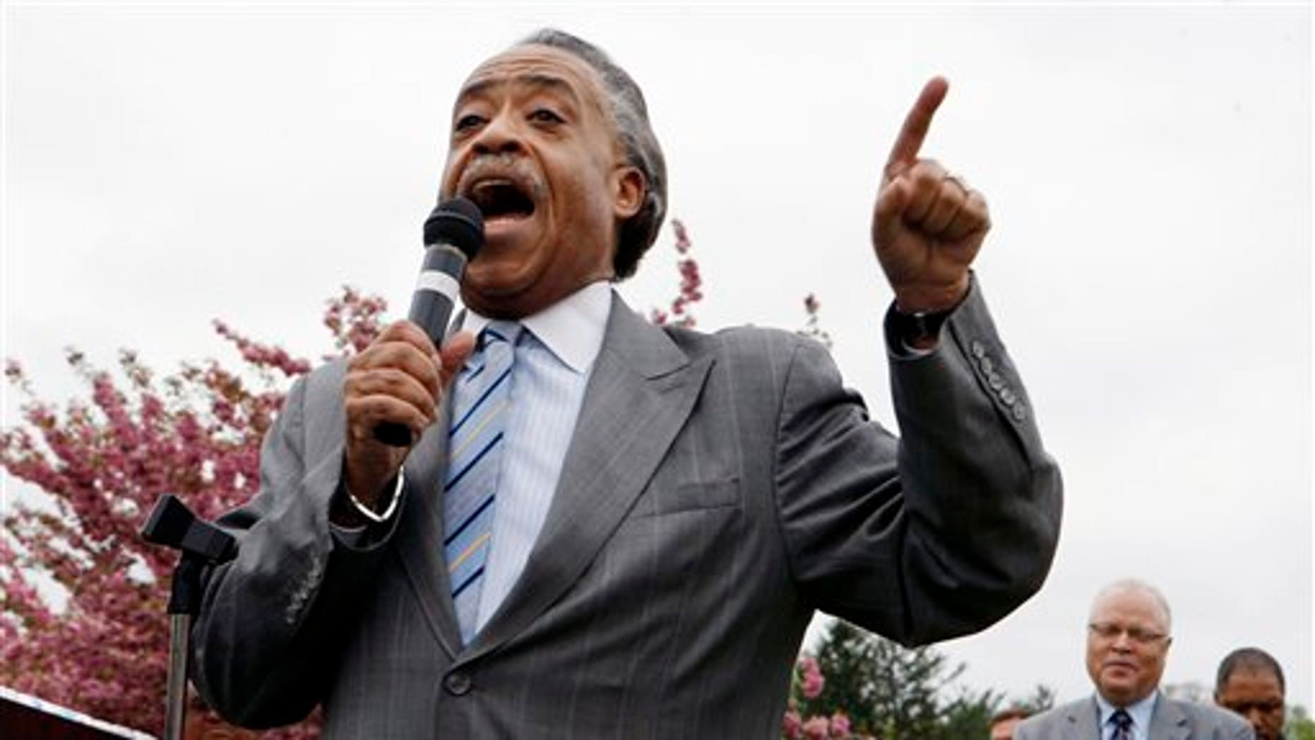 April 26: Rev. AL Sharpton addresses a group of workers and supporters in Vineland, N.J., urging them to demand justice for themselves and the Vineland Development Center's residents.