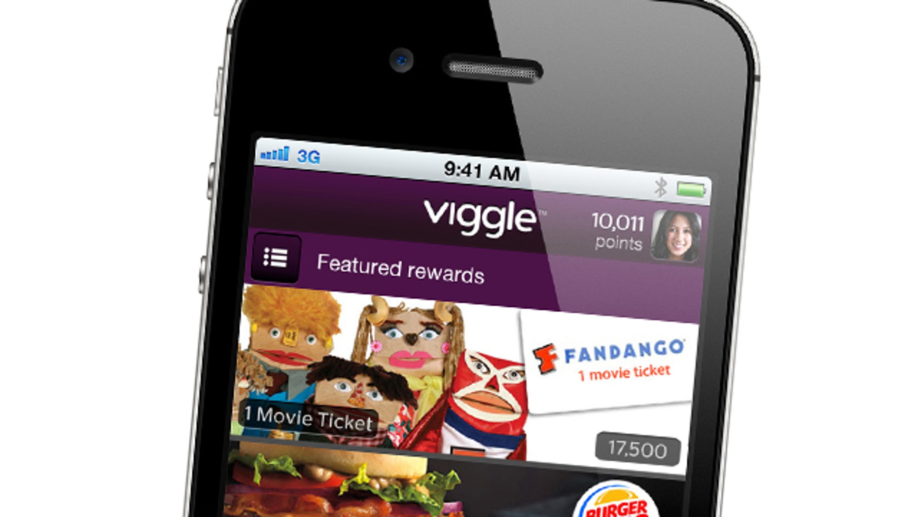 When you tap the screen, Viggle's software for iPhones and iPads listens to what's on, recognizes what you're watching and gives you credit at roughly two points per minute. It even works for shows you've saved on a digital video recorder. Rack up 7,500 points, and you'll be rewarded with a $5 gift card from retailers such as Burger King, Starbucks, Apple's iTunes, Best Buy and CVS, which you can redeem directly from your device.
