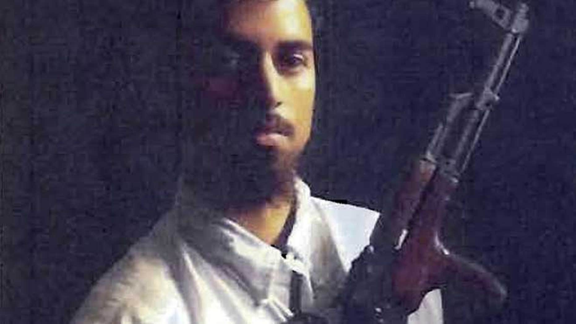 This section of an undated file photo released by the U.S. Attorney's Office, which had been presented as a government exhibit at a 2011 hearing, shows Rezwan Ferdaus, of Ashland, Mass.
