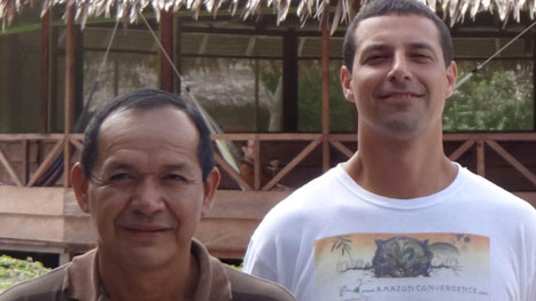 Ricardo Amaringo and Joe Tafur at Nihue Rao shamanic healing center