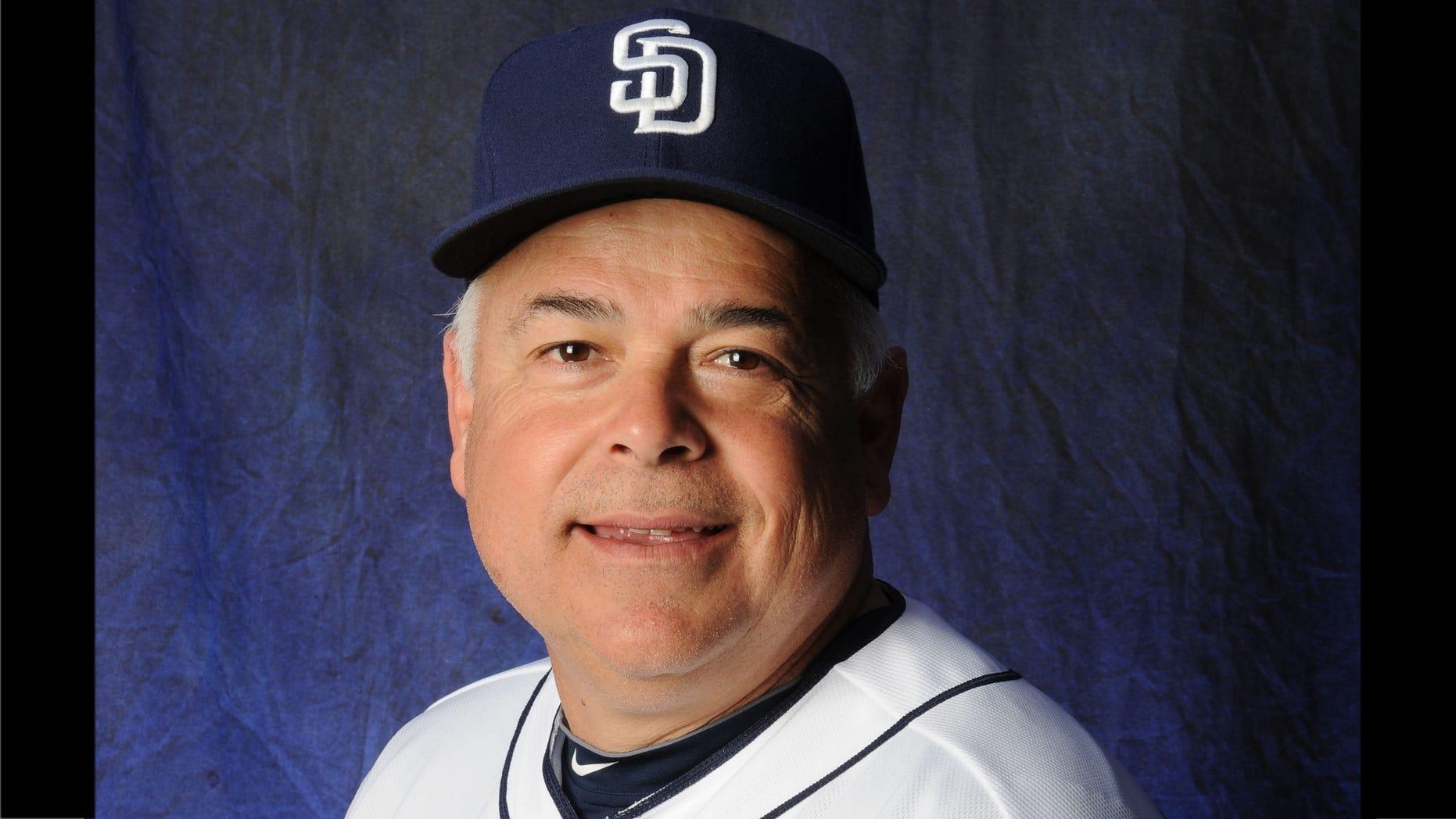 San Diego Padres bench coach Rick Renteria.