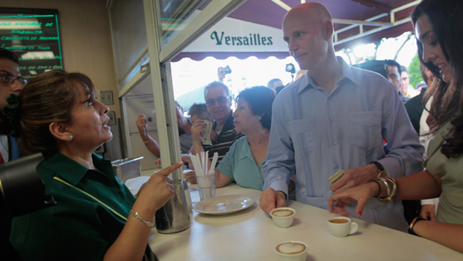 Florida Governor Rick Scott at a restaurant on July 12, 2011 in Miami, Florida.