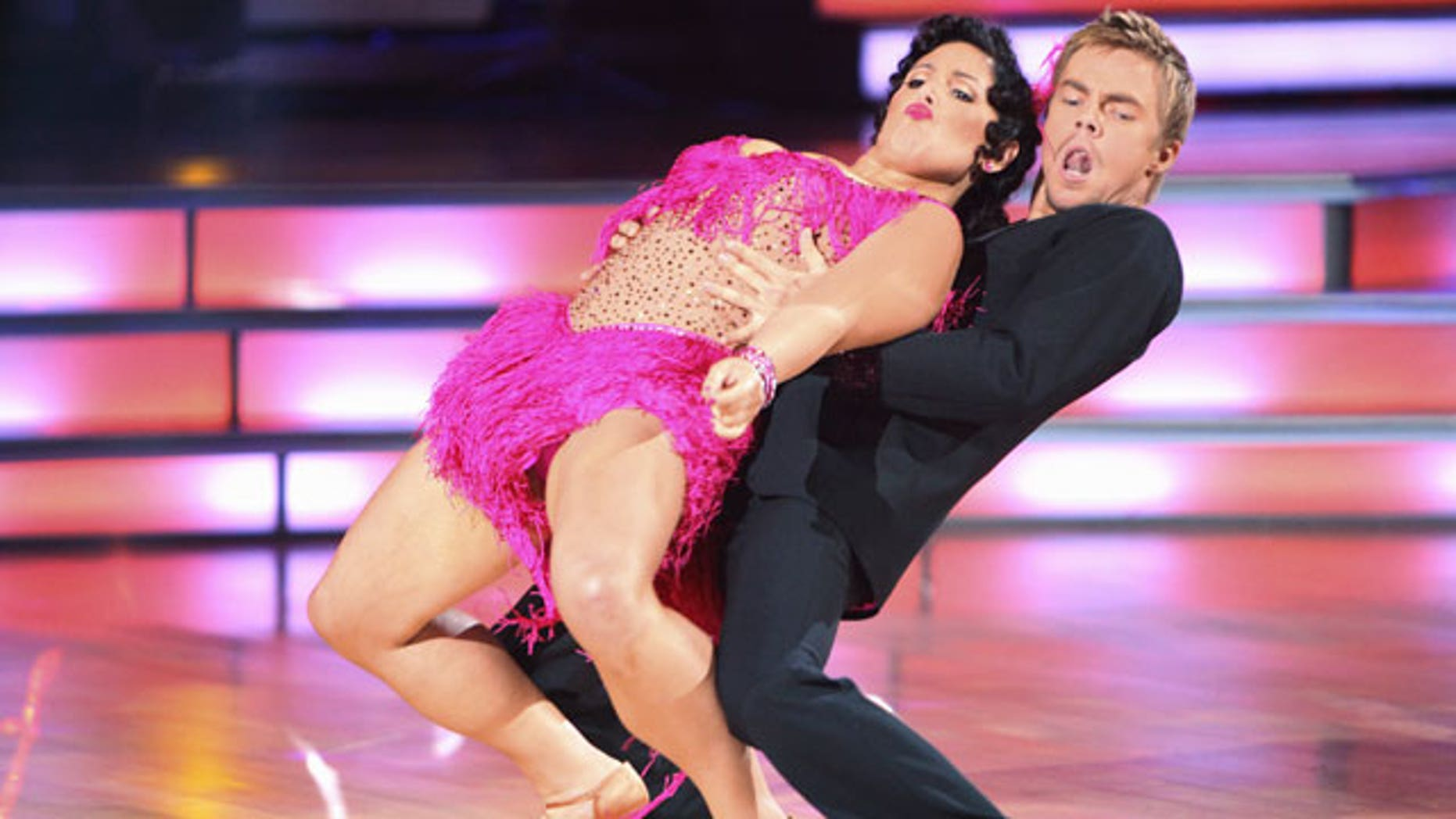 """n this image released by ABC, Ricki Lake, left, and her partner Derek Hough, perform on the celebrity dance competition series, """"Dancing with the Stars."""" (AP)"""
