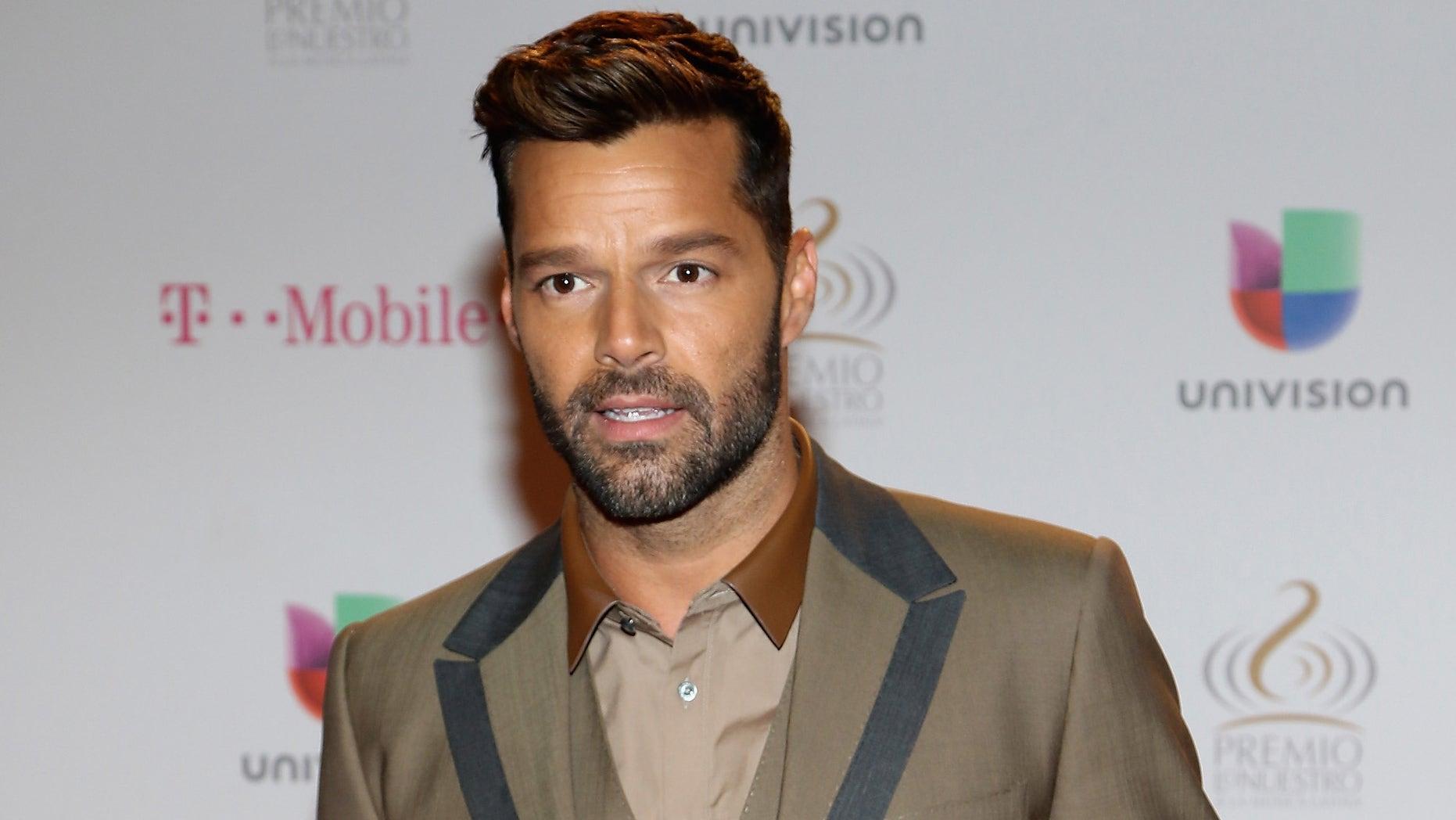 Ricky Martin attends the 2015 Premios Lo Nuestro Awards on February 19, 2015 in Miami, Florida.