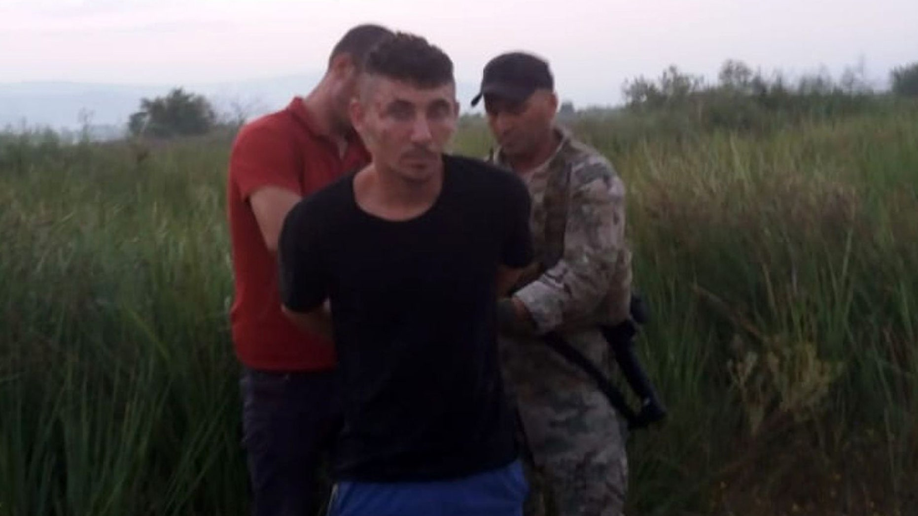 Ridvan Zykaj was arrested after a 12-hour manhunt.
