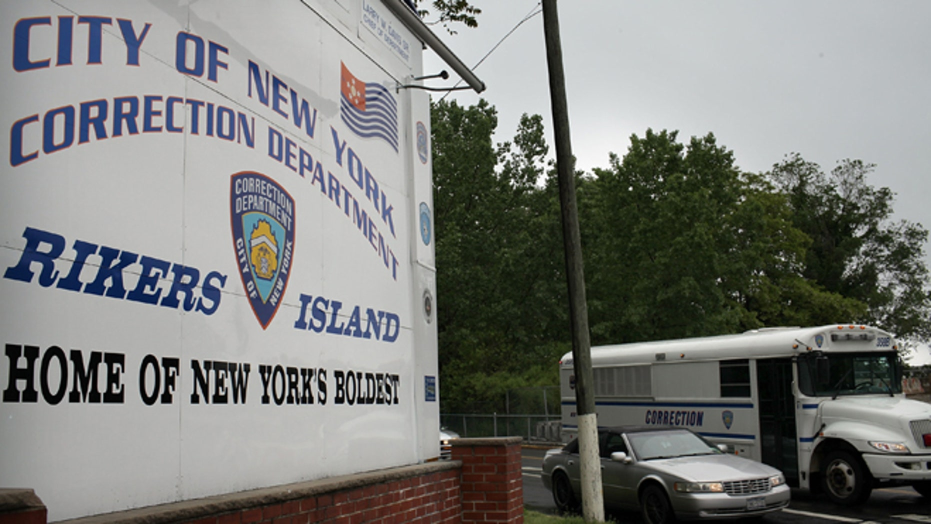 NEW YORK, NY - MAY 17:  A view of the entrance to the Rikers Island prison complex where Dominique Strauss-Kahn, head of the International Monetary Fund (IMF), is being held while awaiting another bail hearing on May 17, 2011 in New York City. Strauss-Kahn was arrested on May 14 on sexual assault charges stemming for an incident with a maid at a Manhattan hotel. Strauss-Kahn was expected to announce a presidential bid for France in the coming weeks. Strauss-Kahn was transferred to Rikers on Monday after a Manhattan Criminal Court judge refused to grant him bail.  (Photo by Spencer Platt/Getty Images)