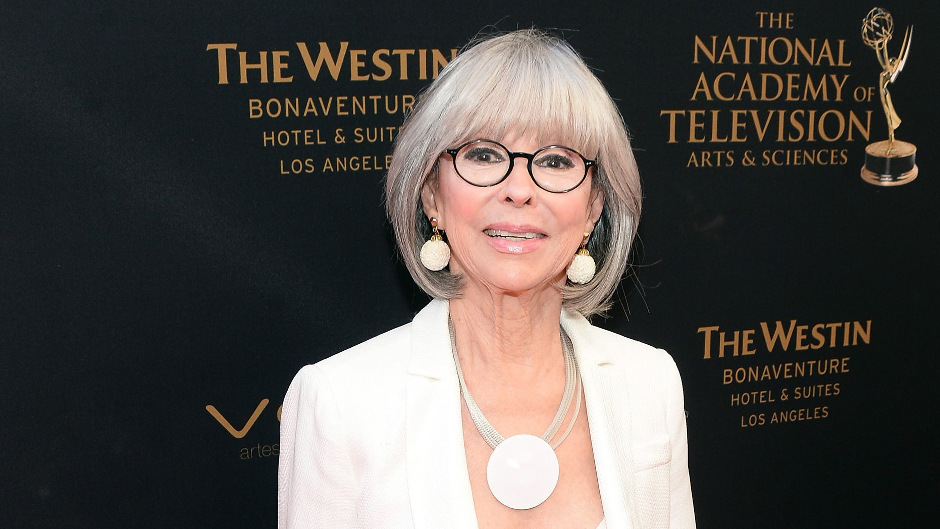 Actress Rita Moreno at the Westin Bonaventure Hotel on May 1, 2016 in Los Angeles, California.