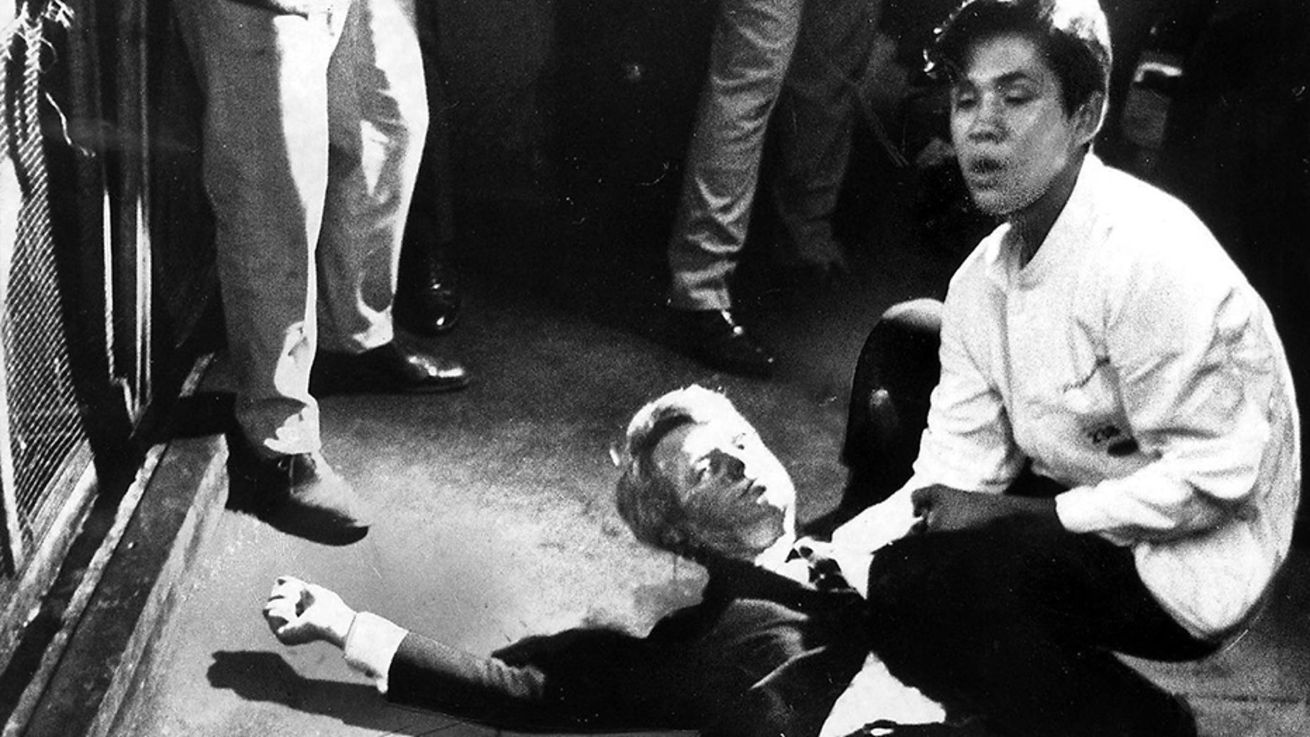 The busboy who held Robert F. Kennedy after he was shot in 1968 revealed in an interview the senator's last words.