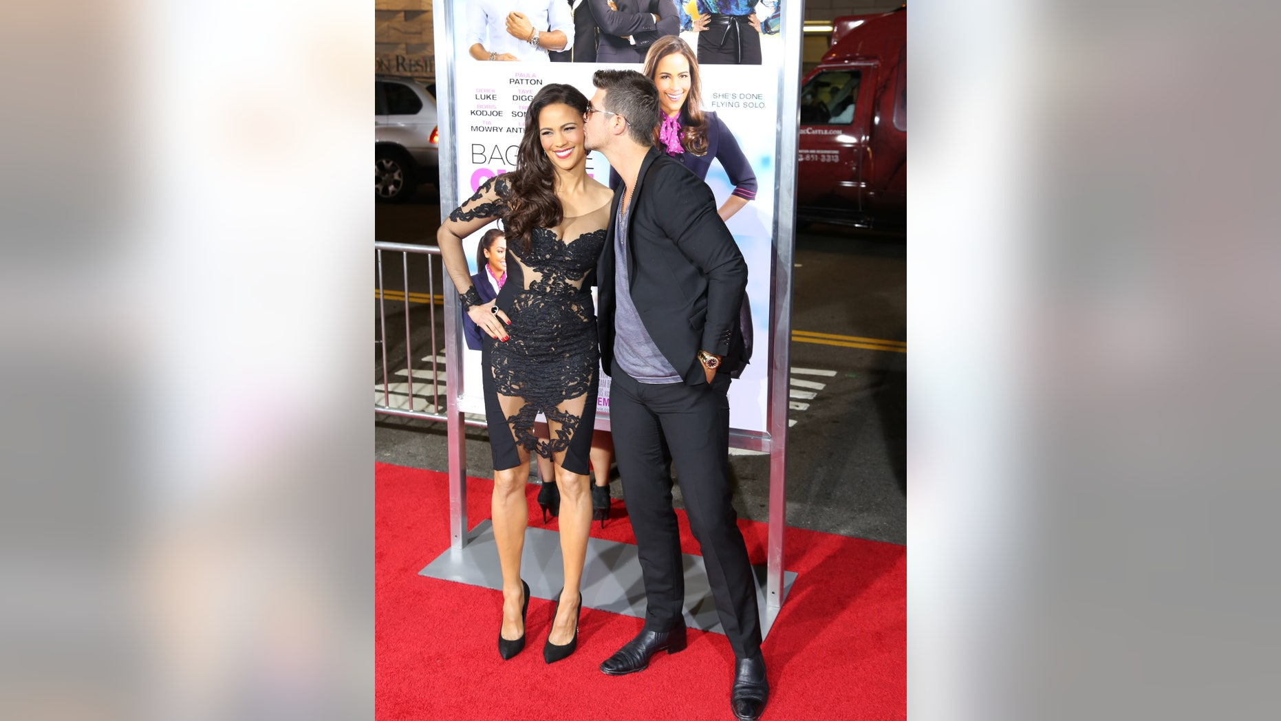 Robin Thicke and Paula Patton attending the 'Baggage Claim' premiere, at Regal Cinemas L.A. Live. September 25, 2013 X17online.com