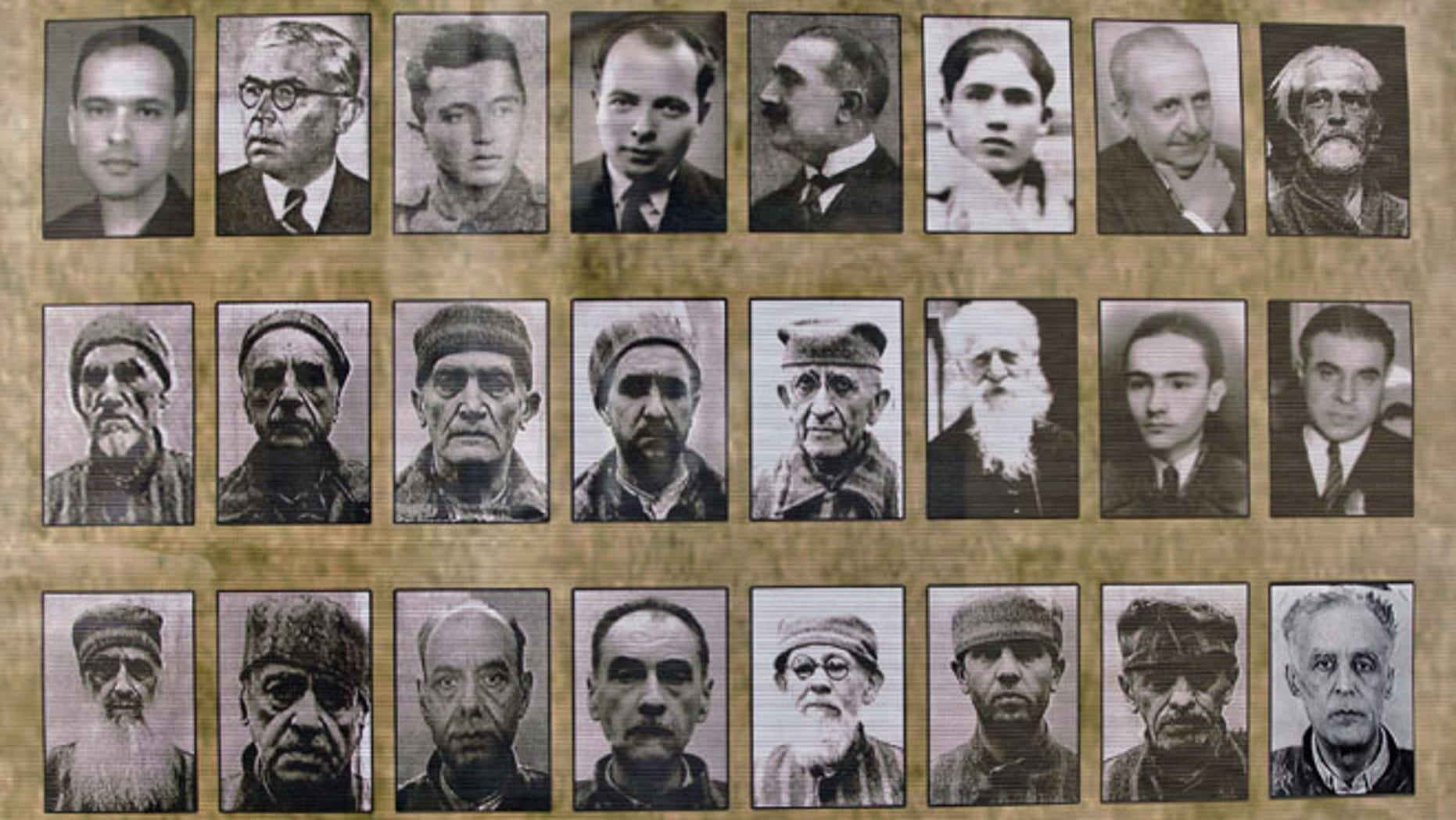 May 9, 2013: Pictures of deportees and prisoners are on display, in Bucharest, Romania, at the opening of a permanent memorial exhibition for the victims of the communist regime persecutions. (AP Photo/Vadim Ghirda)