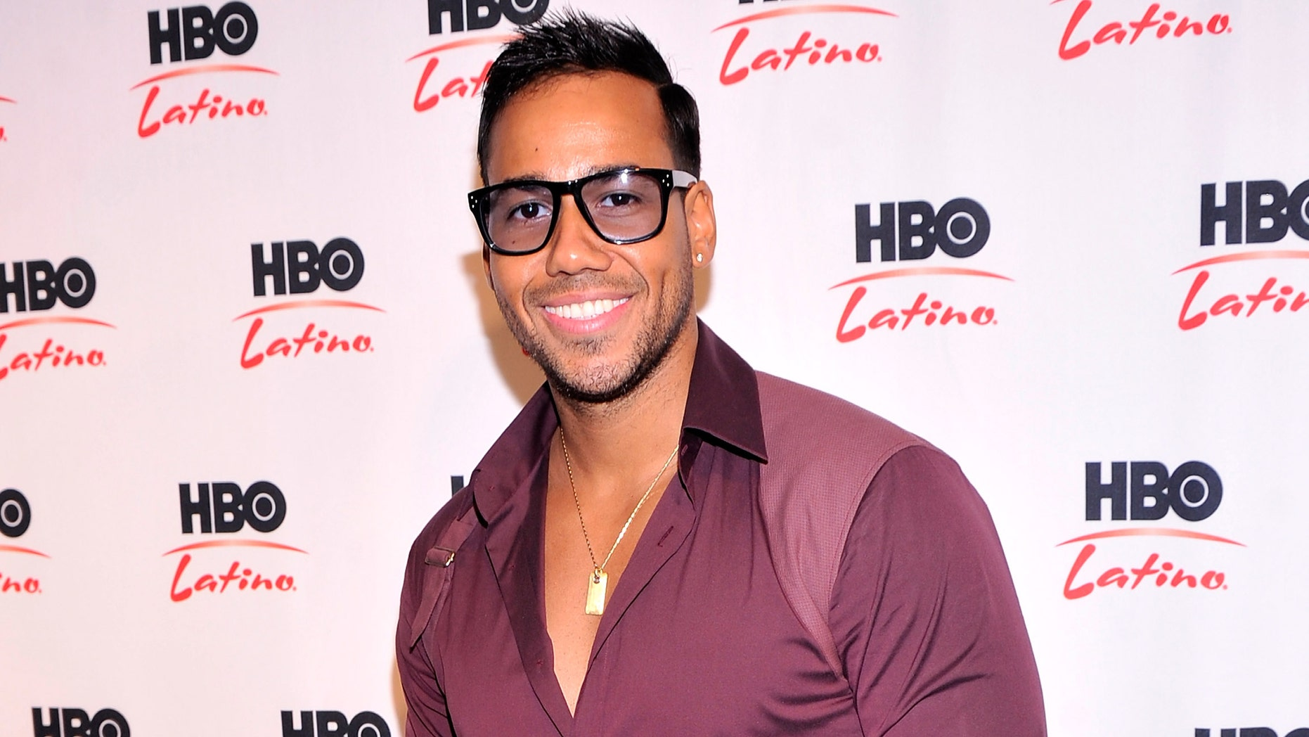 Romeo Santos attends a press event celebrating his concert special on April 30, 2013 in New York City.