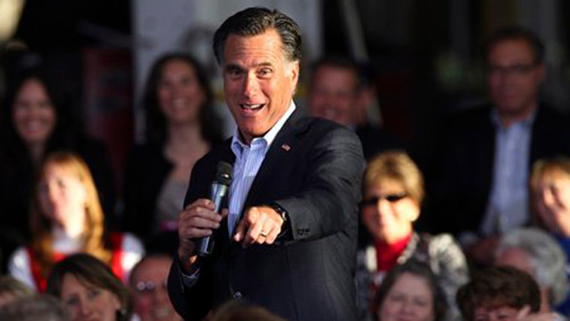 Republican presidential candidate, former Massachusetts Gov. Mitt Romney speaks during a campaign stop at RC Fabricators on Tuesday, April 10, 2012, in Wilmington, Del. (AP Photo/The Wilmington News-Journal, Suchat Pederson) NO SALES
