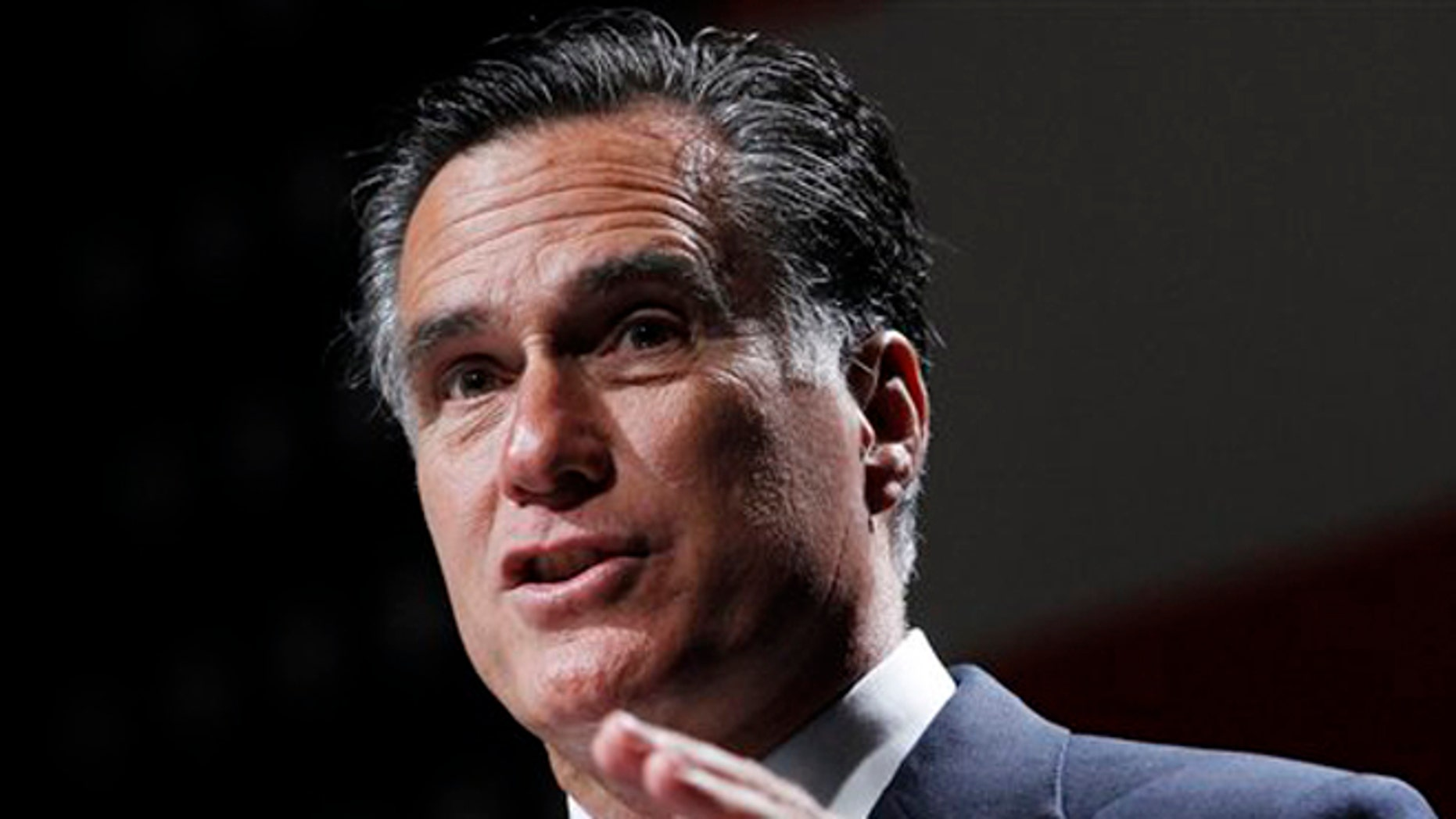 FILE:  June 21, 2012: Then-GOP presidential candidate Mitt Romney speak in Orlando, Fla.