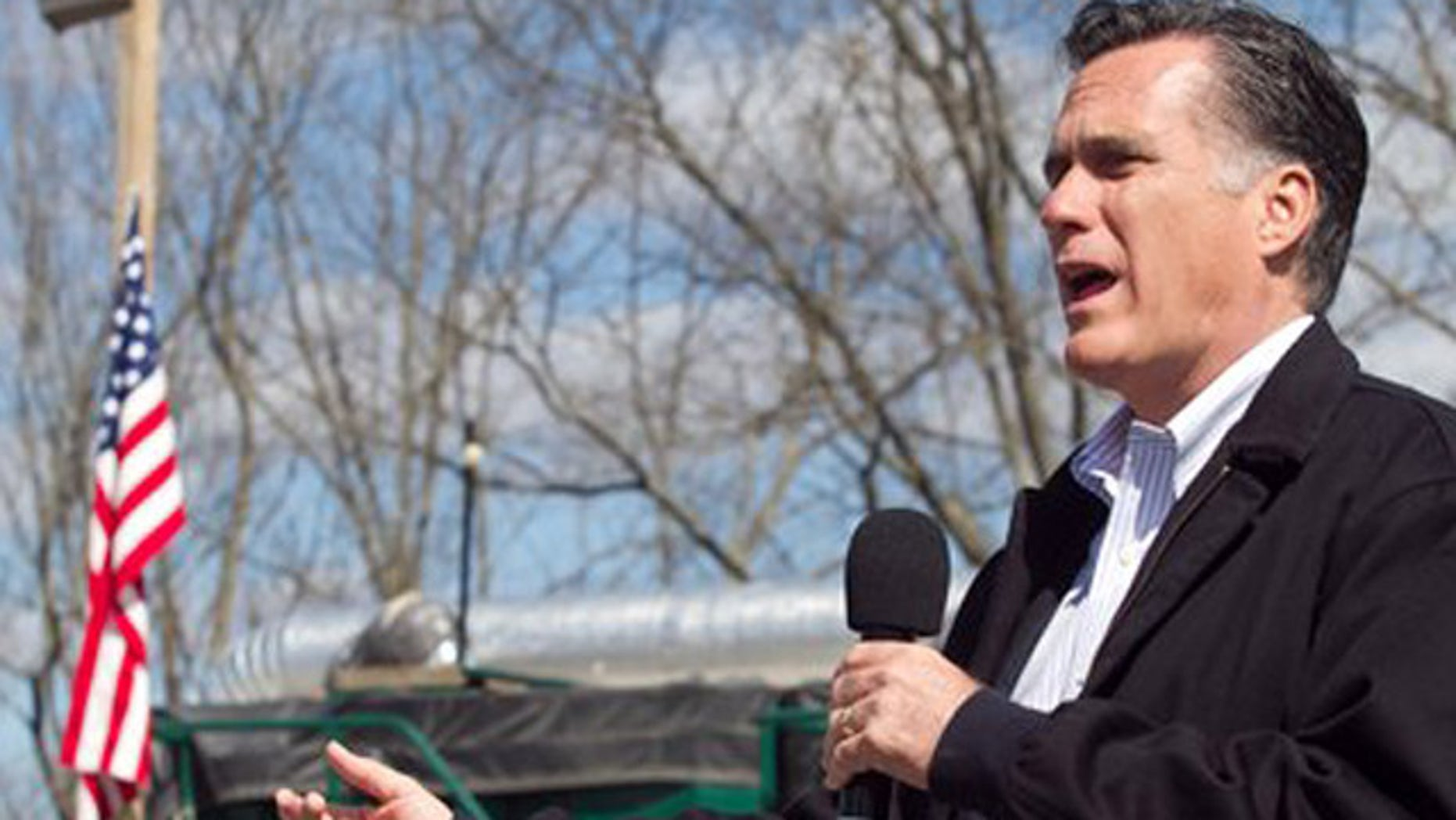 April 5, 2012: Republican presidential candidate, former Massachusetts Gov. Mitt Romney speaks about energy during a campaign stop in Tunkhannock, Pa.
