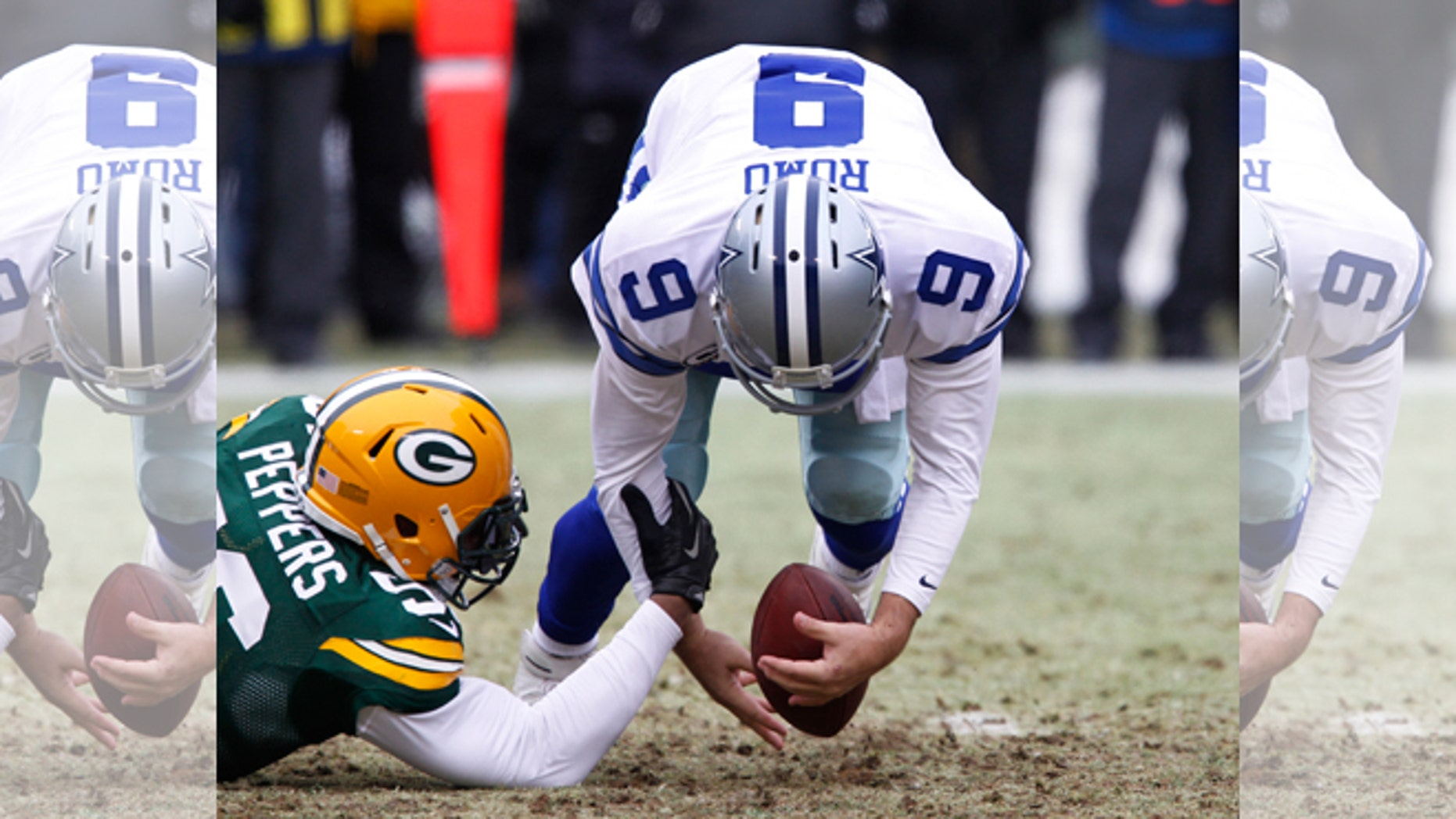 Dallas Cowboys Tony Romo Dez Bryant Drop Ball Against