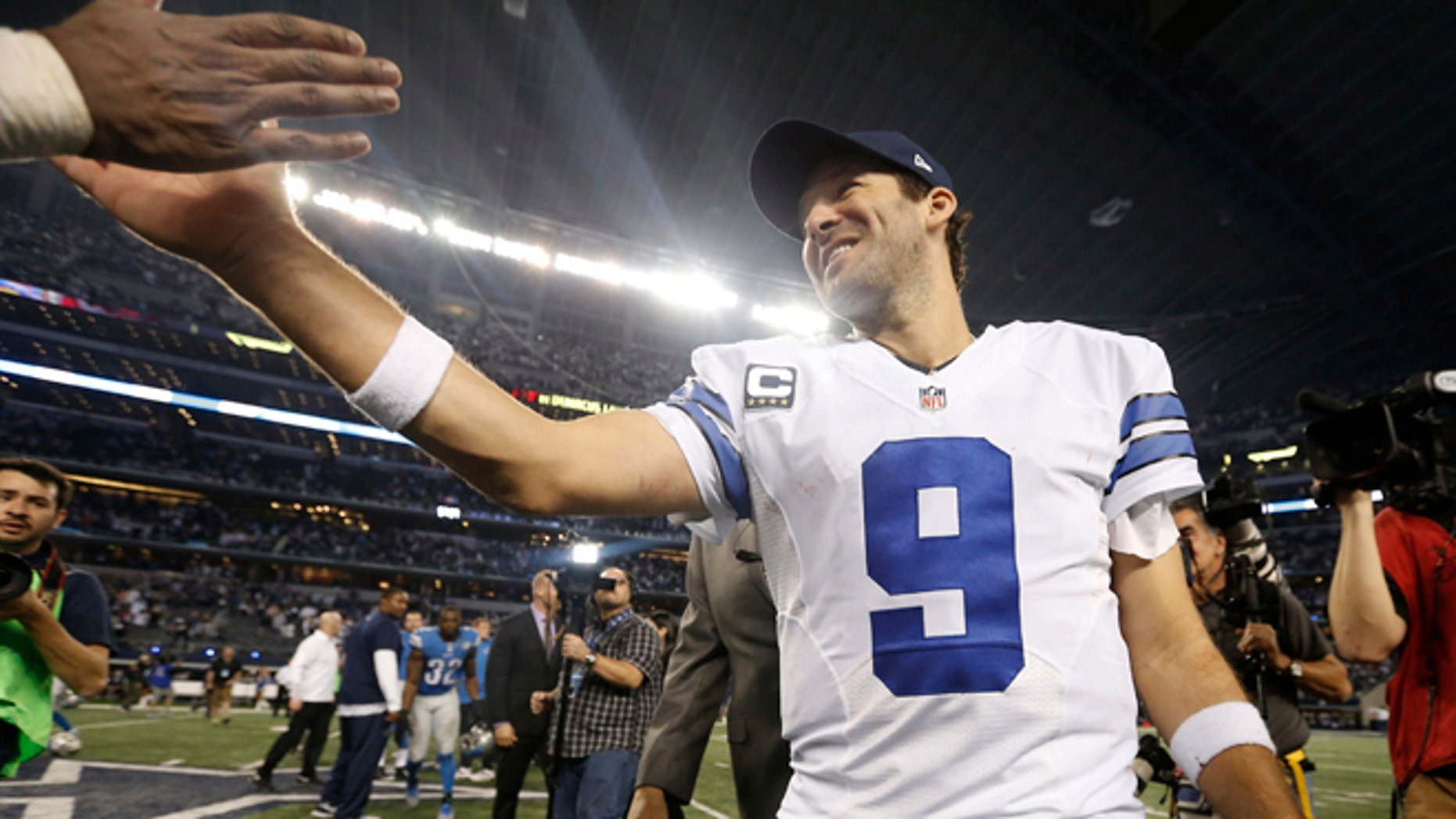 Romo after a game against the Detroit Lions, Sunday, Jan. 4, 2015, in Arlington, Texas.