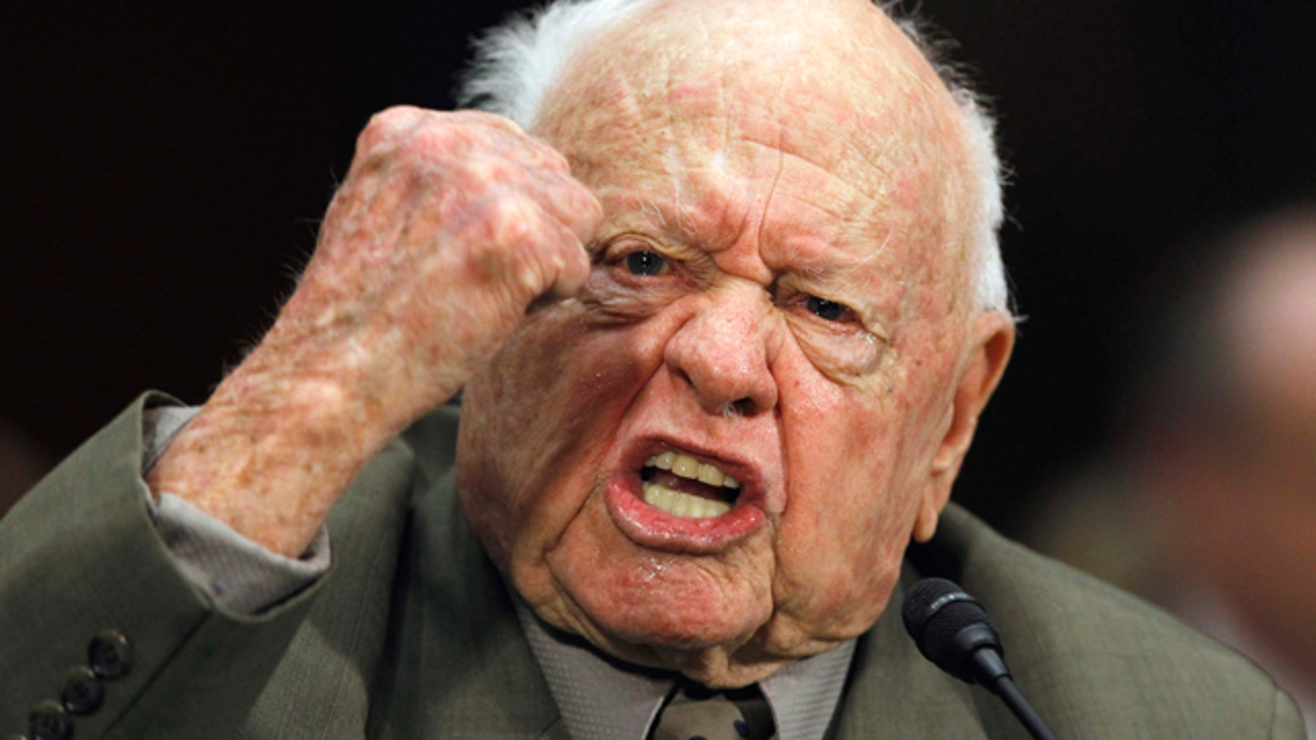 March 2: Mickey Rooney testifies about elder abuse before the Senate Aging Committee on Capitol Hill.