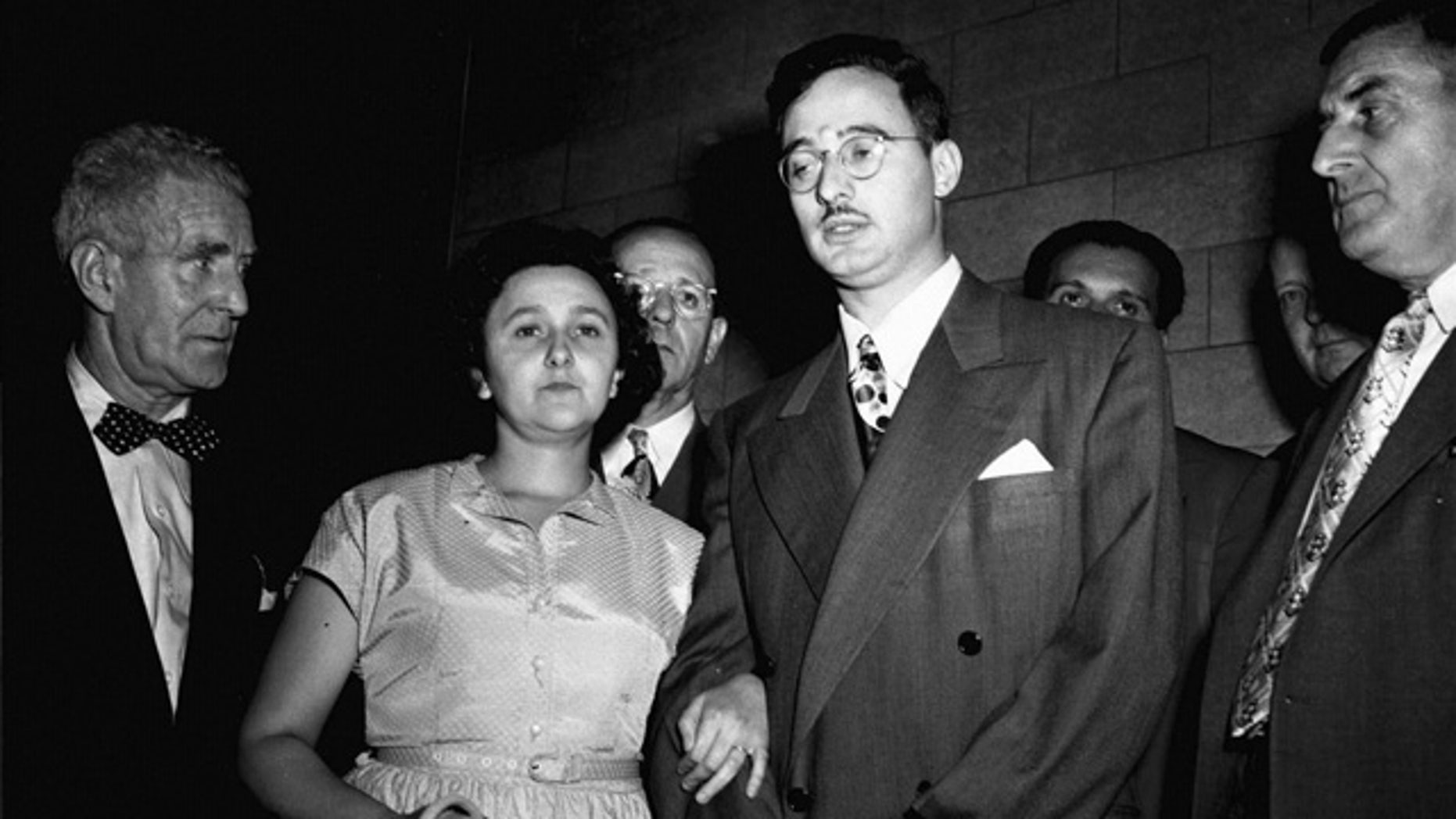 In this 1951 file photo, Ethel and Julius Rosenberg are shown during their trial for espionage in New York. (AP/File)