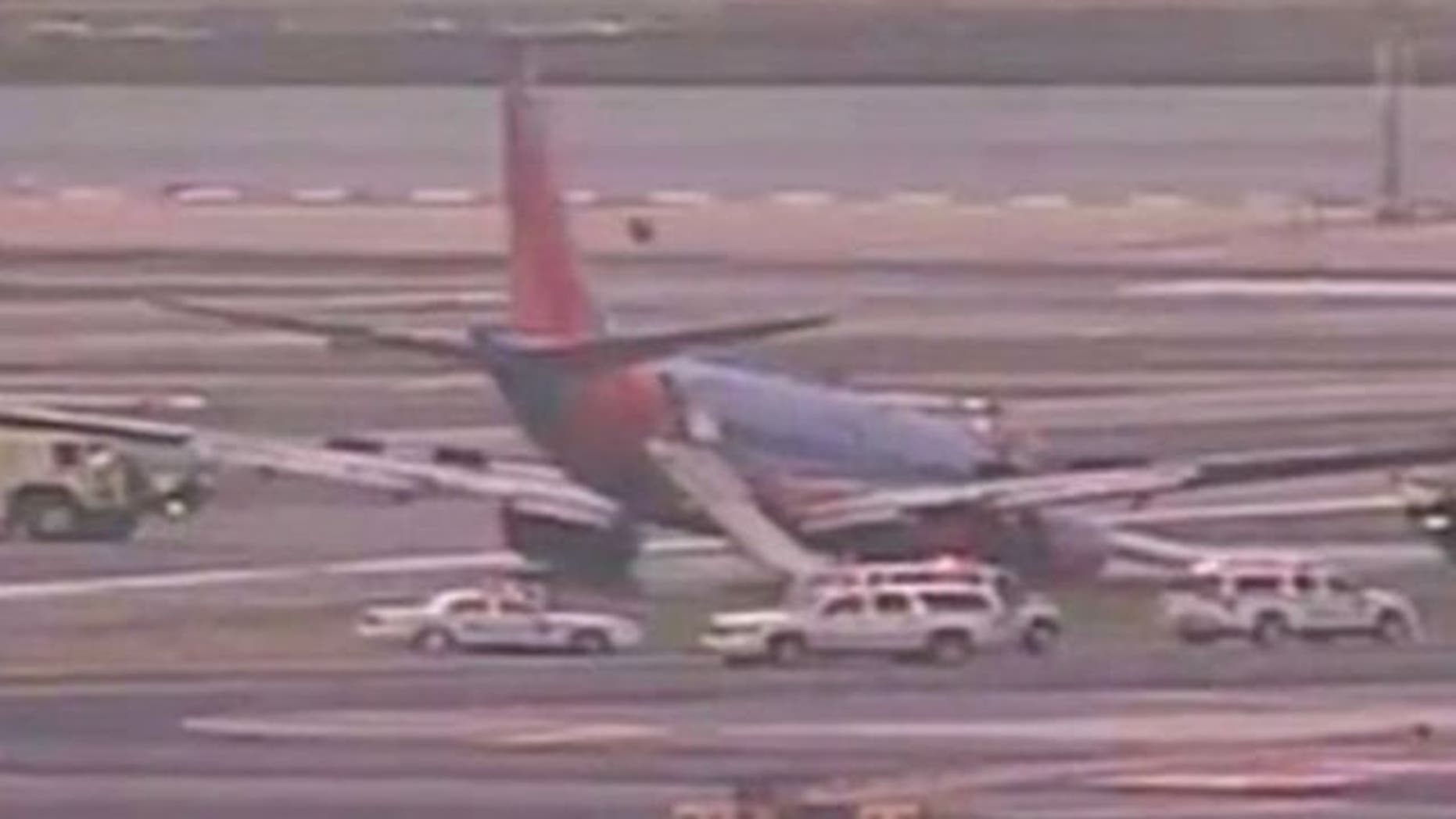 July 22, 2013: A Southwest Airlines plane makes a rough landing in New York.