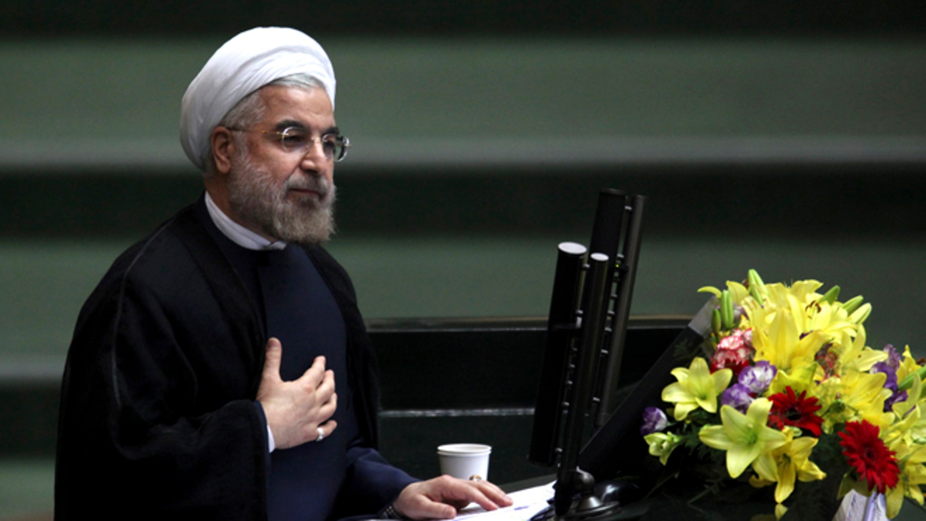 Iranian President Hasan Rouhani uses social media to communicate with the world, but his regime just banned WhatsApp. (Reuters)