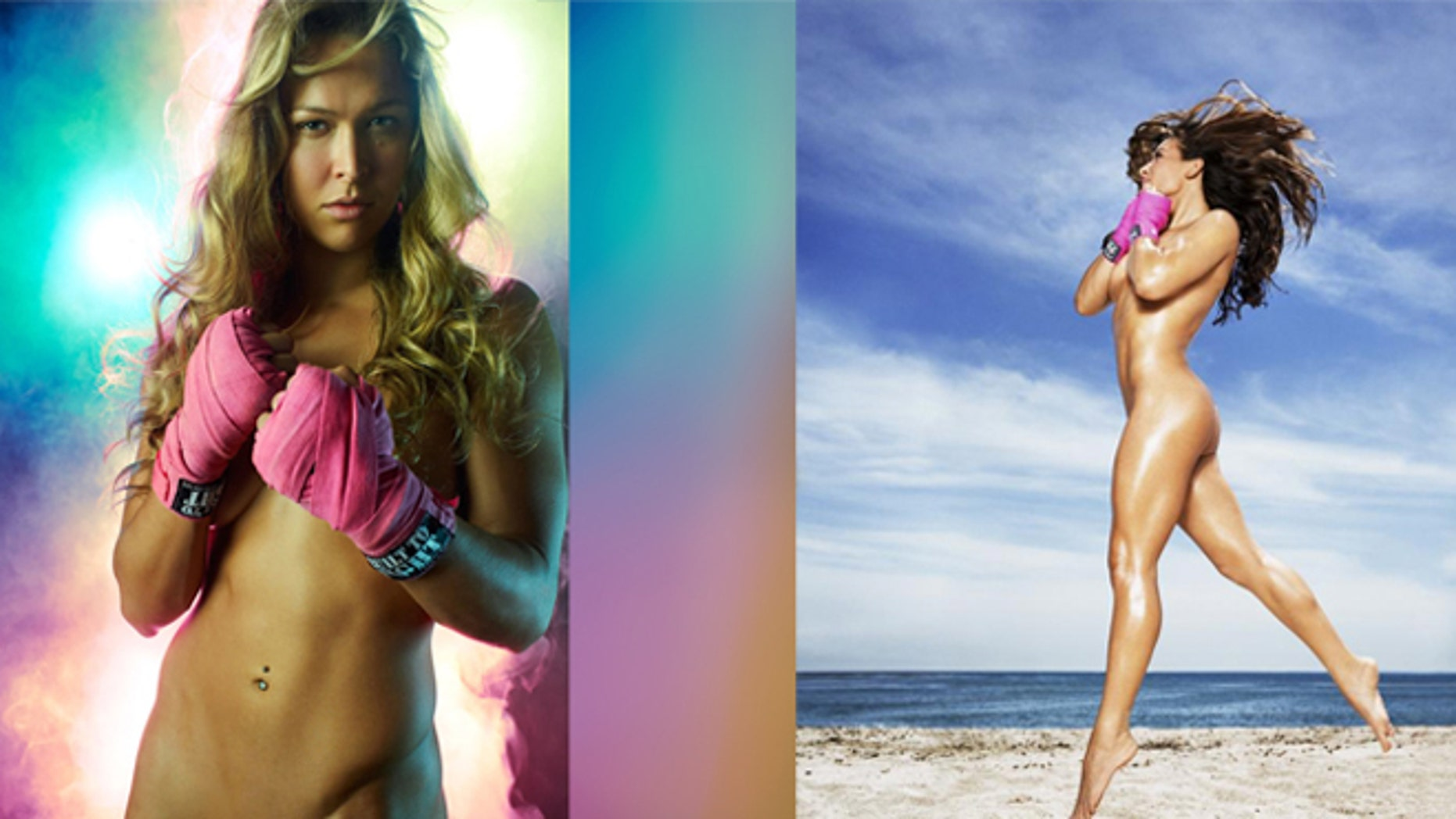 Ronda Rousey Left In The 2012 Issue And Miesha Tateright In