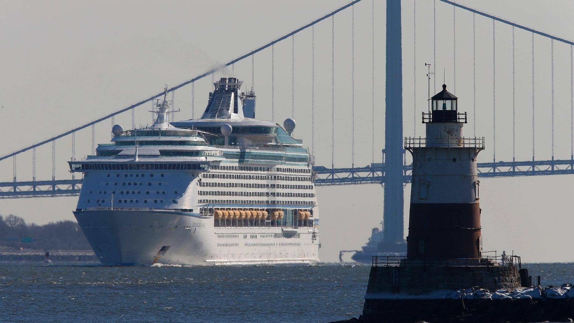 The Royal Caribbean's cruise ship Explorer of the Seas arrives back at Bayonne, New Jersey January 29, 2014. (REUTERS/Eduardo Munoz)