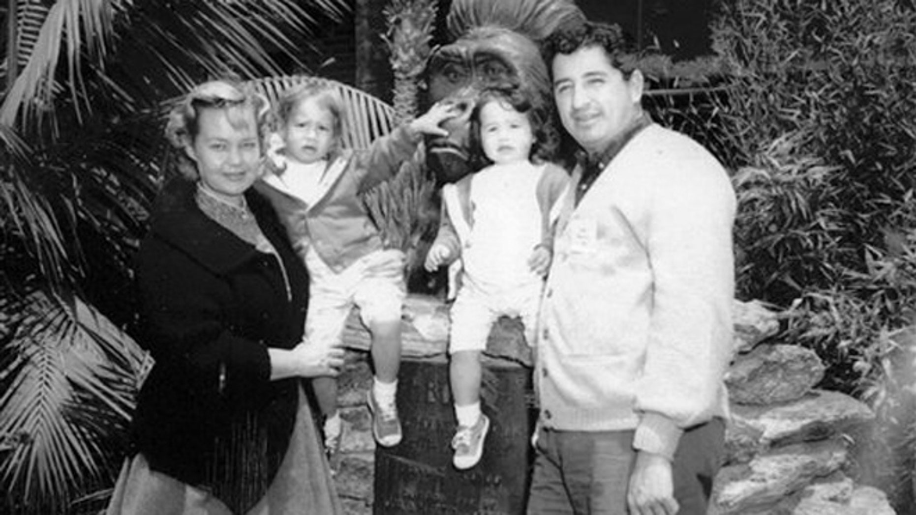 Ruben Salazar with his wife Sally and his children.