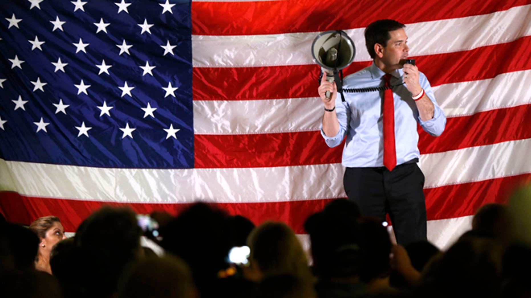 Republican presidential candidate Sen. Marco Rubio in Orlando, Fla., Sunday, March 13, 2016.