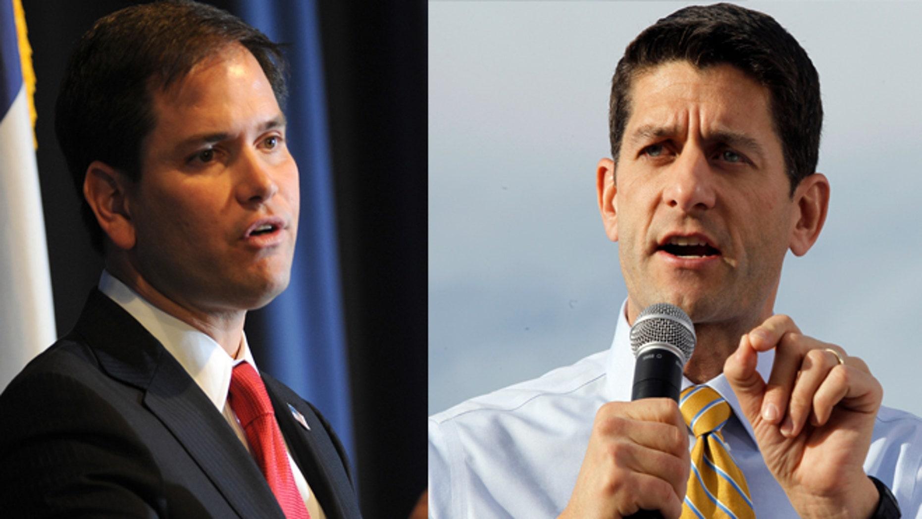 (LEFT) Sen. Marco Rubo (R-FL) and (RIGHT) Rep. Paul Ryan (WI).