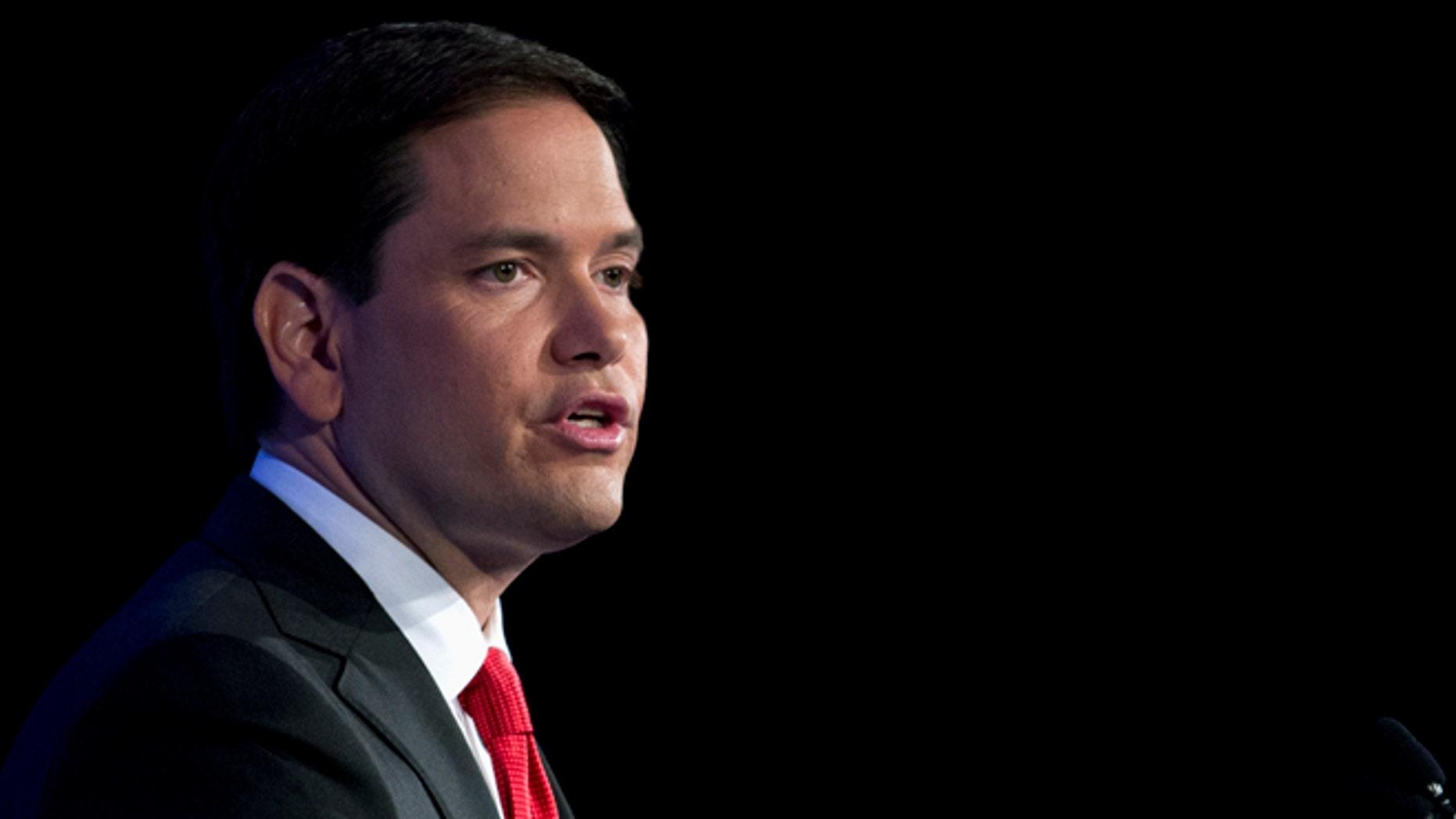 Sen. Marco Rubio during the Values Voter Summit on Friday, Sept. 25, 2015, in Washington.