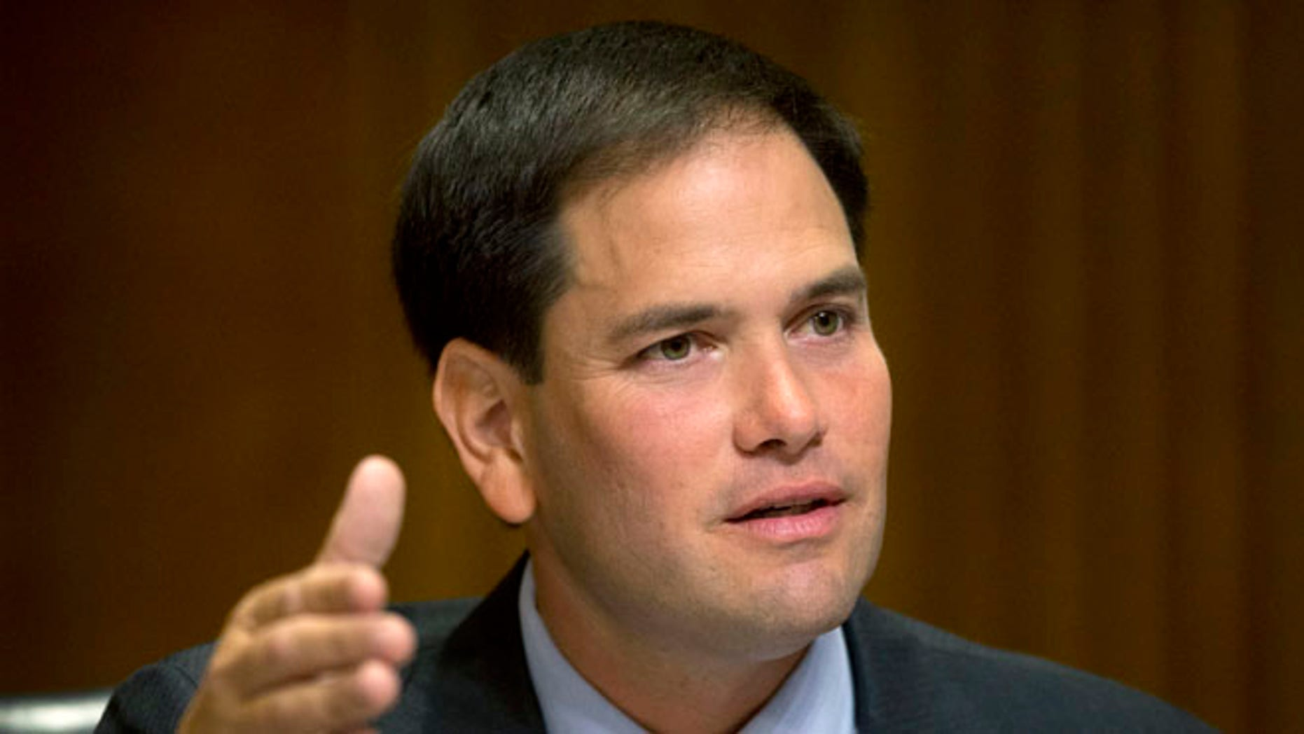 July 9, 2014: Florida GOP Sen. Marco Rubio on Capitol Hill in Washington, D.C .