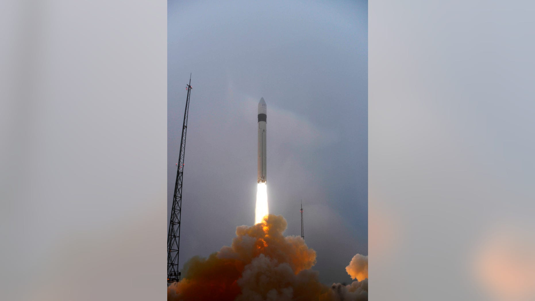 PLESETSK SPACEPORT, RUSSIA - NOVEMBER 22:  In this handout photo released by the European Space Agency (ESA), the Russian Rockot launcher lifts off with the ESAs three-satellite Swarm constellation November 22, 2013 from the Plesetsk spaceport.The satellites will be used to monitor Earths magnetic field.  (Photo by Stephane Corvaja/ESA via Getty Images)