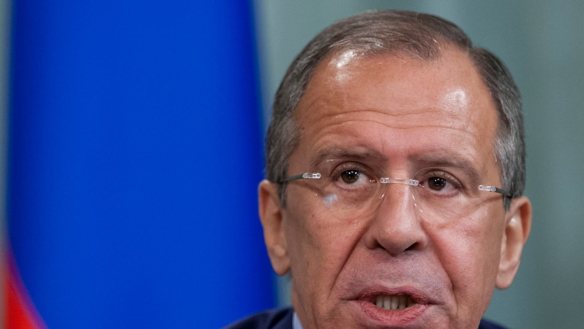 June 15, 2012: Russian Foreign Minister Sergey Lavrov speaks at a news conference  in Moscow,  Russia.
