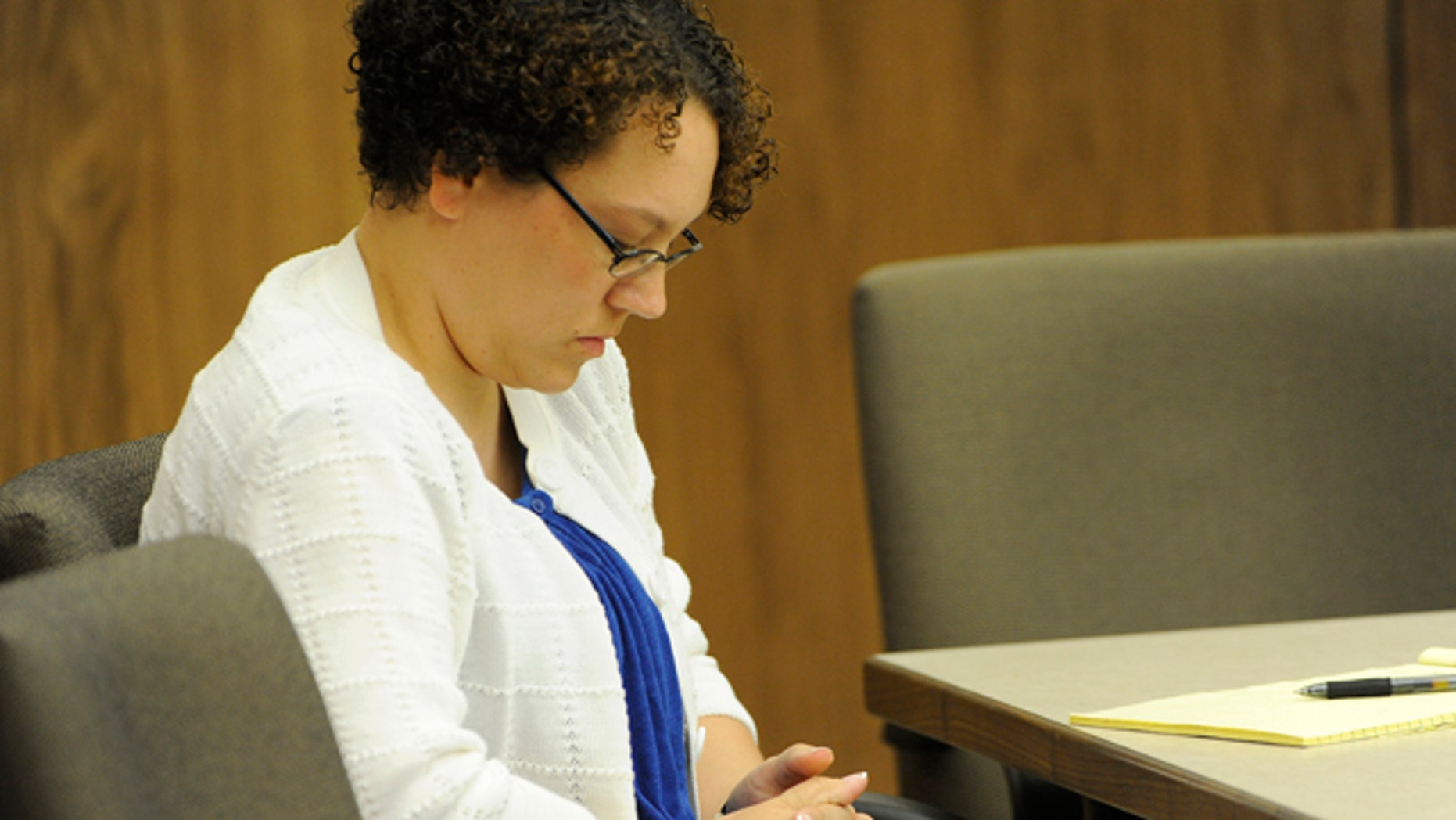 Aug. 17: Jessica Beagley appears in court on the first day of her trial in Anchorage, Alaska.
