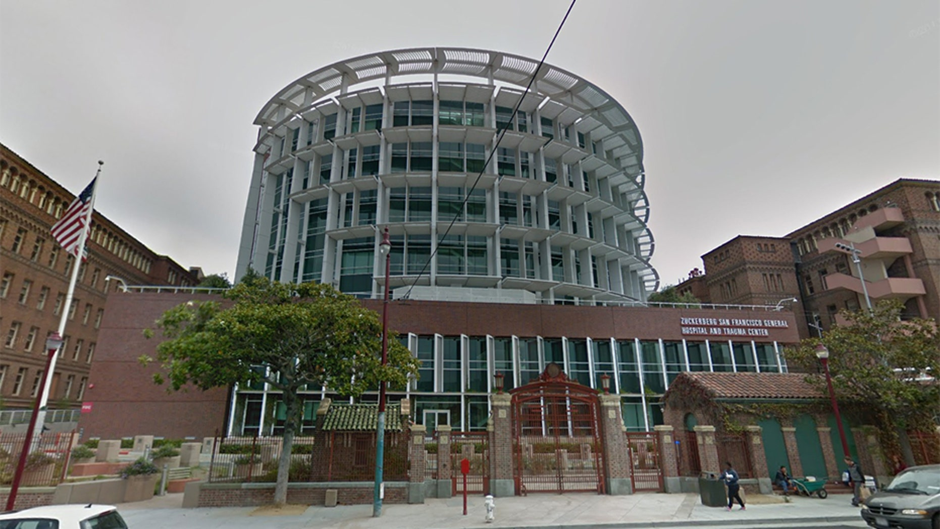 A woman's body was found Wednesday in a building stairwell on the grounds of San Francisco General Hospital, authorities said.