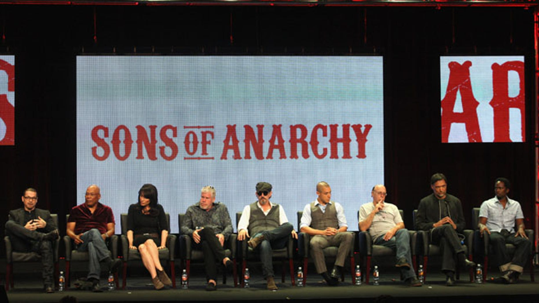 'Sons of Anarchy' panel during the FX portion of the 2012 Summer TCA Tour on July 28, 2012 in Beverly Hills, California.